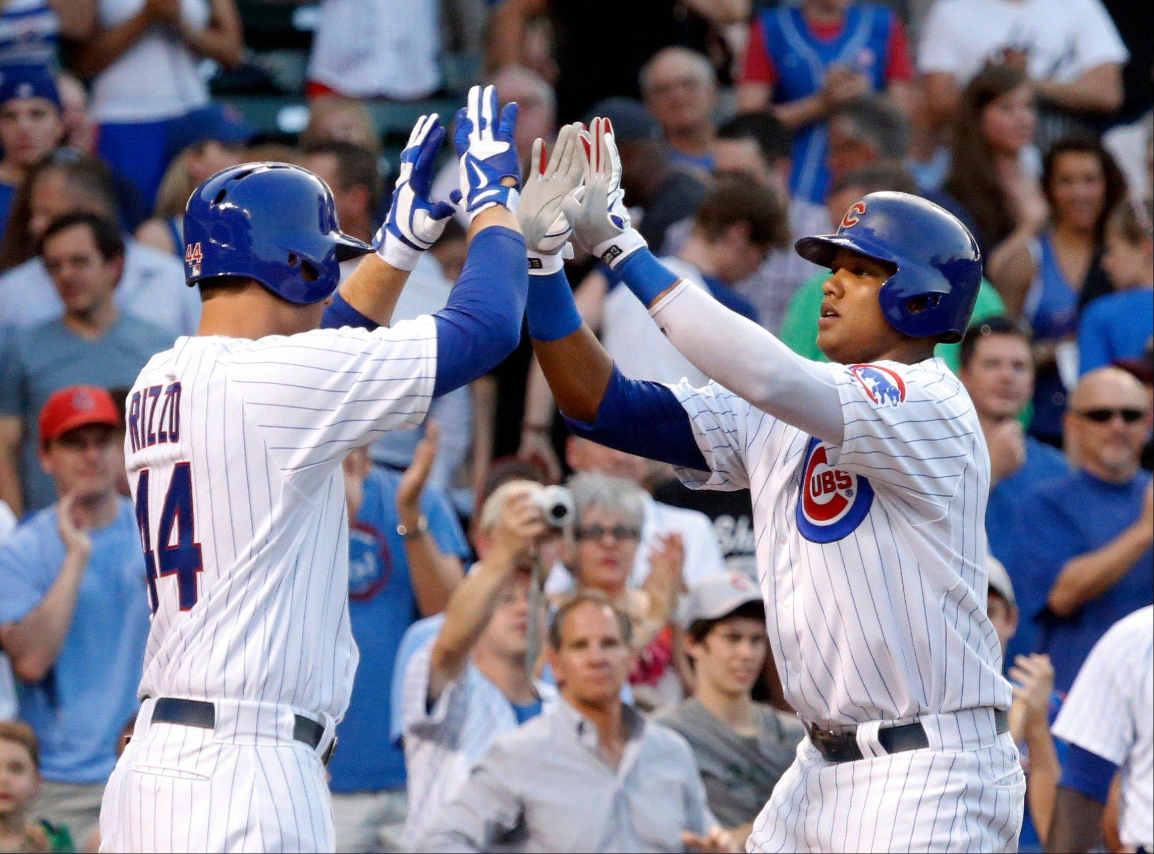 "Cubs manager Dale Sveum thinks Cubs core players Anthony Rizzo, left, and Starlin Castro ""are ready to really produce in the second half."""