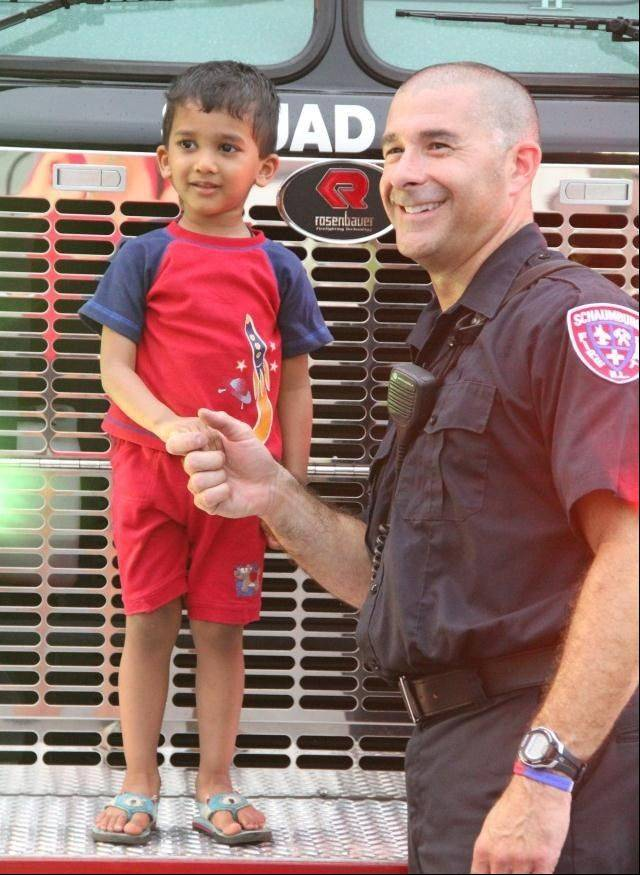 Schaumburg police and firefighters will join the festivities as the Schaumburg Park District celebrates National Night Out Tuesday, Aug. 6. The end-of-summer event is designed to strengthen neighborhood spirit and generate support for local anti-crime programs.