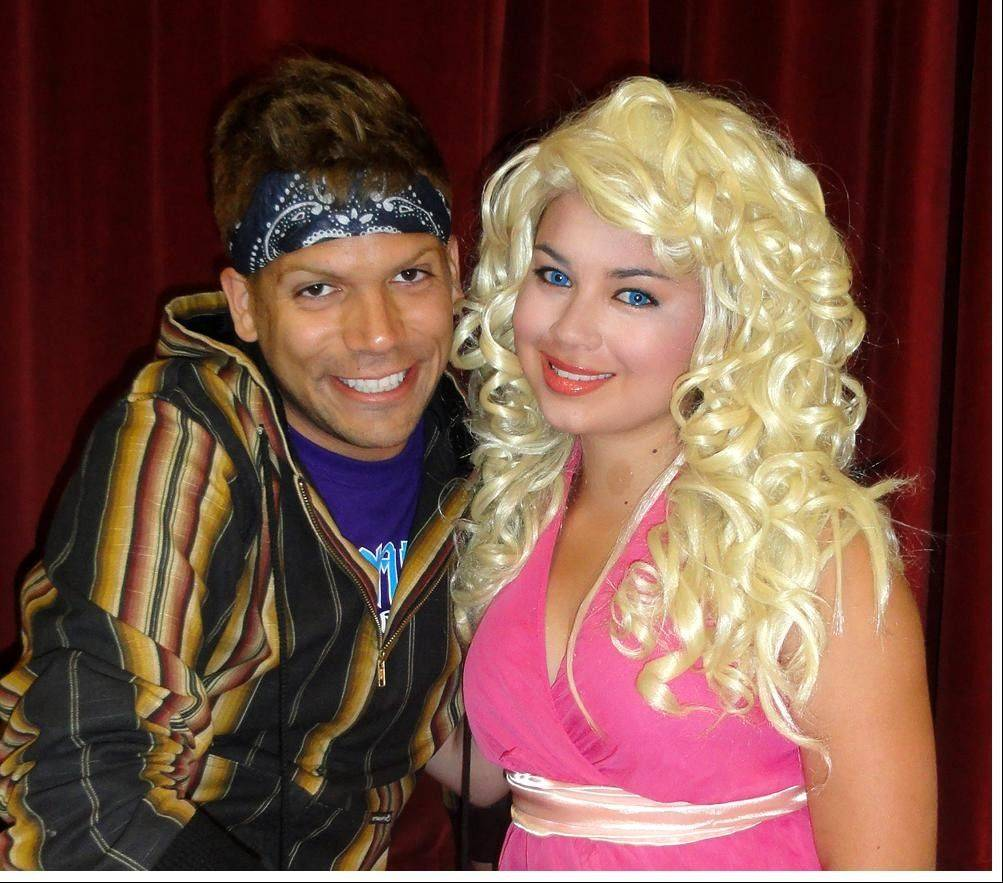 "Jonah Parra of Palatine as Sonny Malone and Christina Melgar of Wheeling as Kira in the August production of ""Xanadu,"" presented by ArtReach Educational Theatre in partnership with Spotlite Theatrix Production Company."