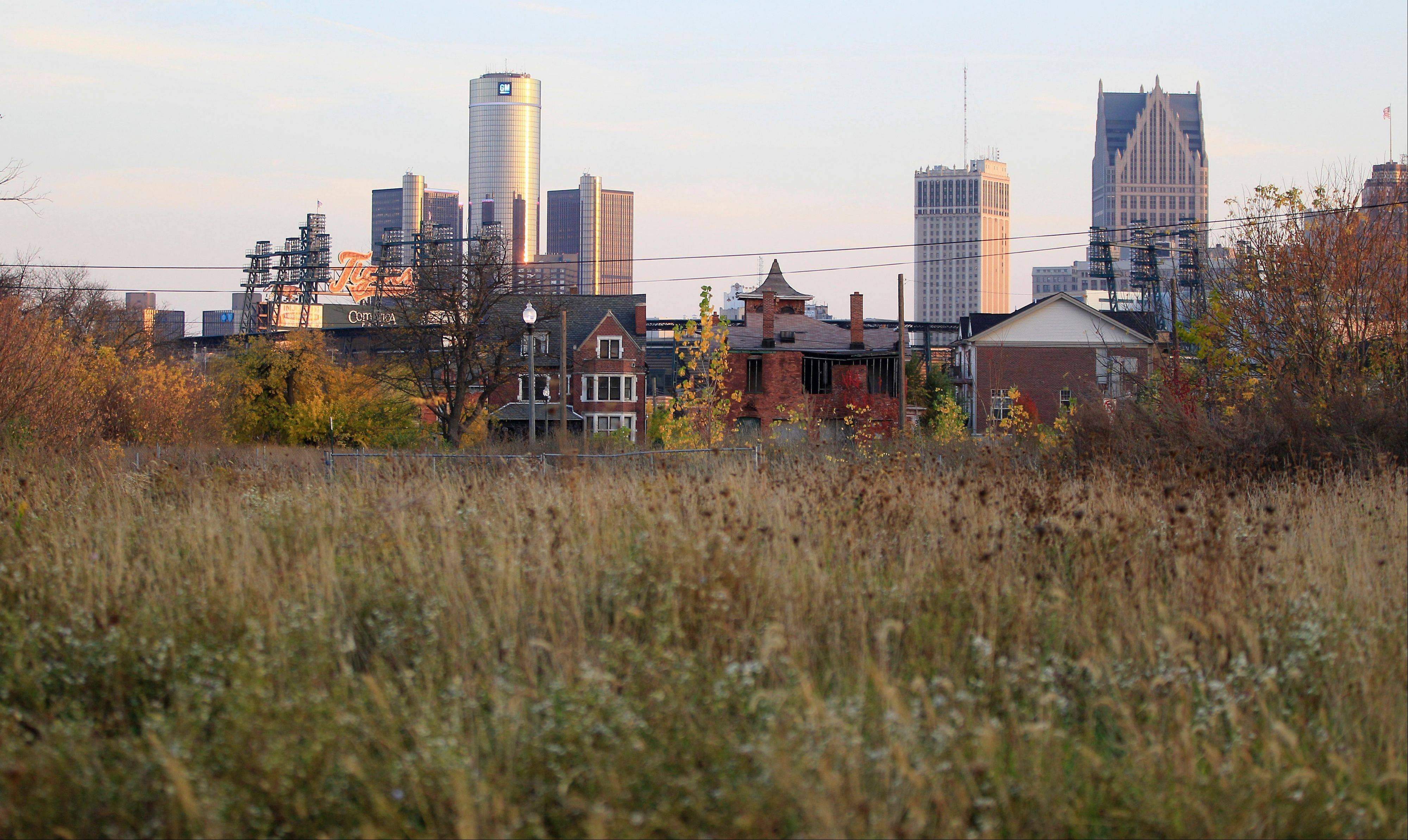 Associated Press/Oct. 24, 2012 An empty field north of Detroit's downtown.