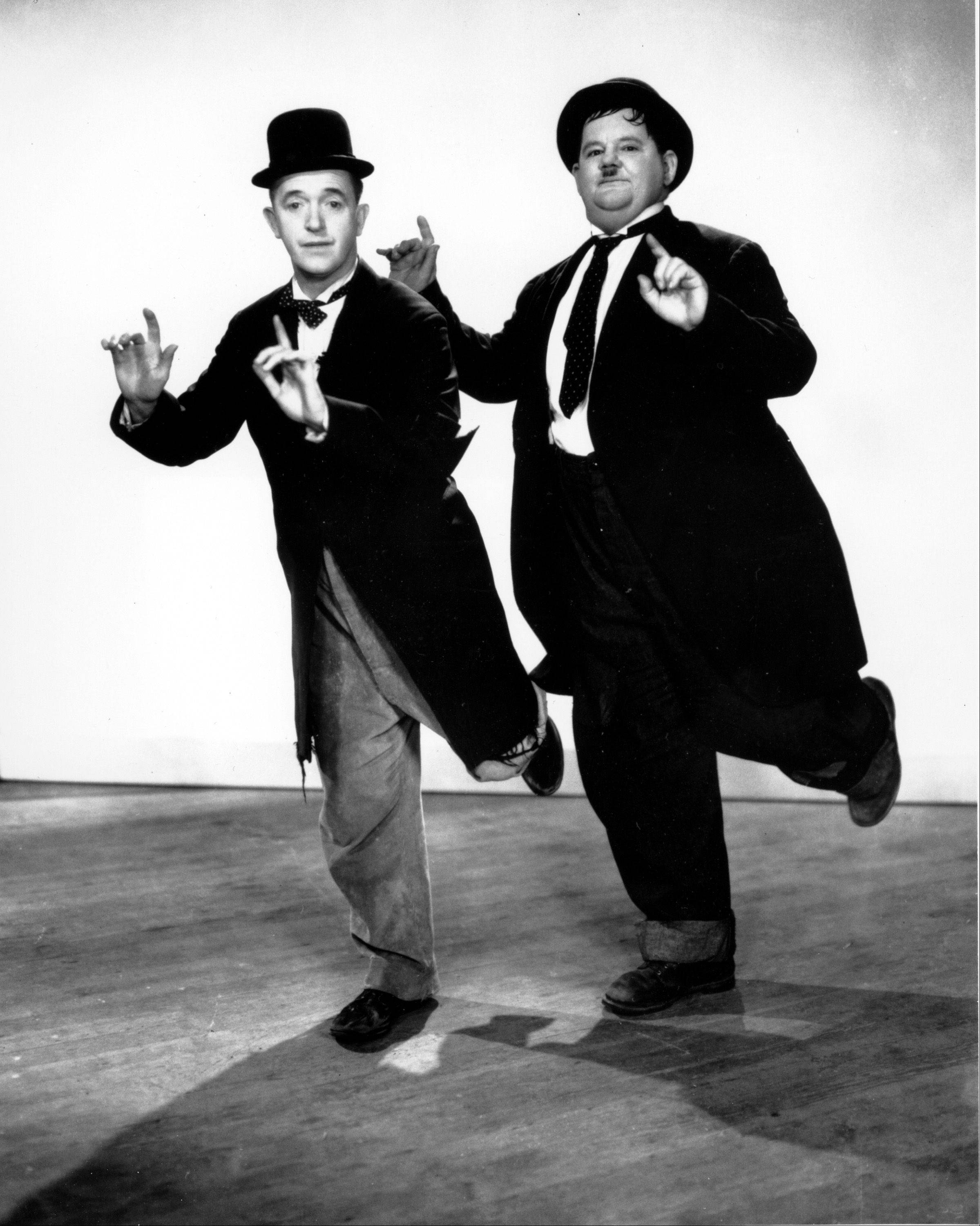 A new DVD collection celebrates classic comedy teams, like Stan Laurel and Oliver Hardy.