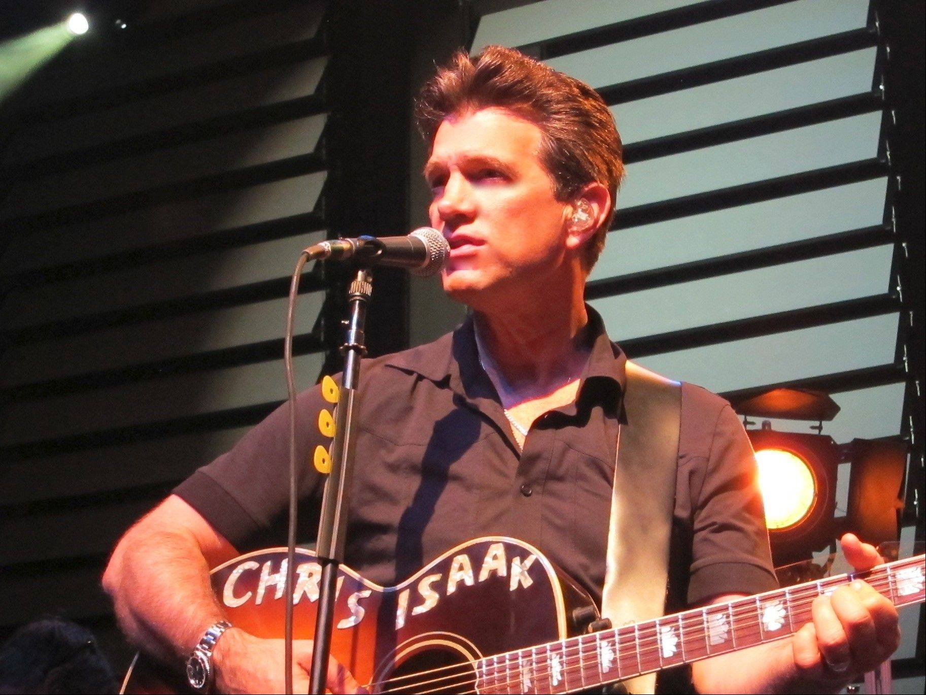 Chris Isaak is performing Friday night at the Arcada Theatre in St. Charles.