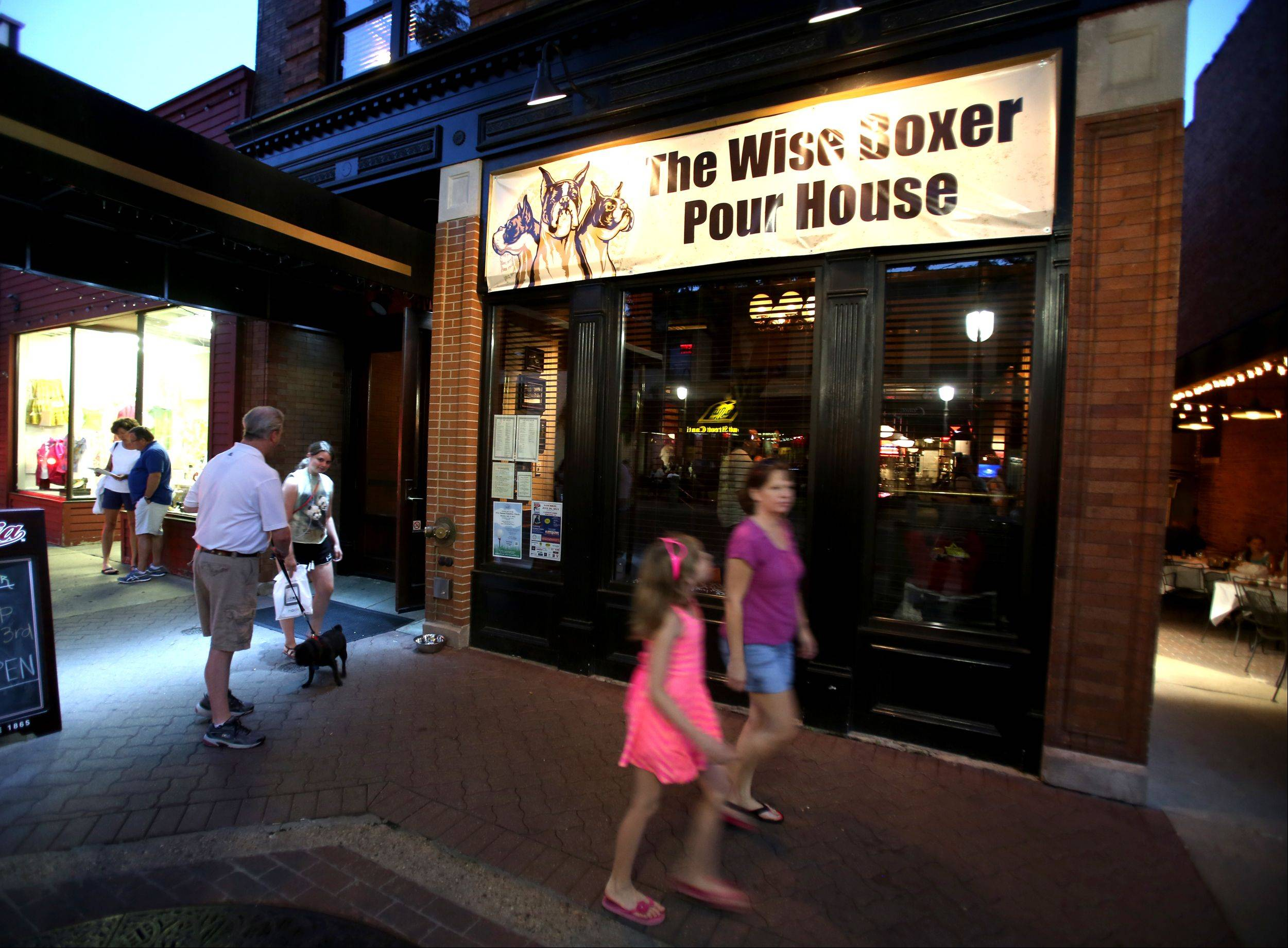 The Wise Boxer Pour House took over the old location of BlackFinn American Saloon in Naperville.