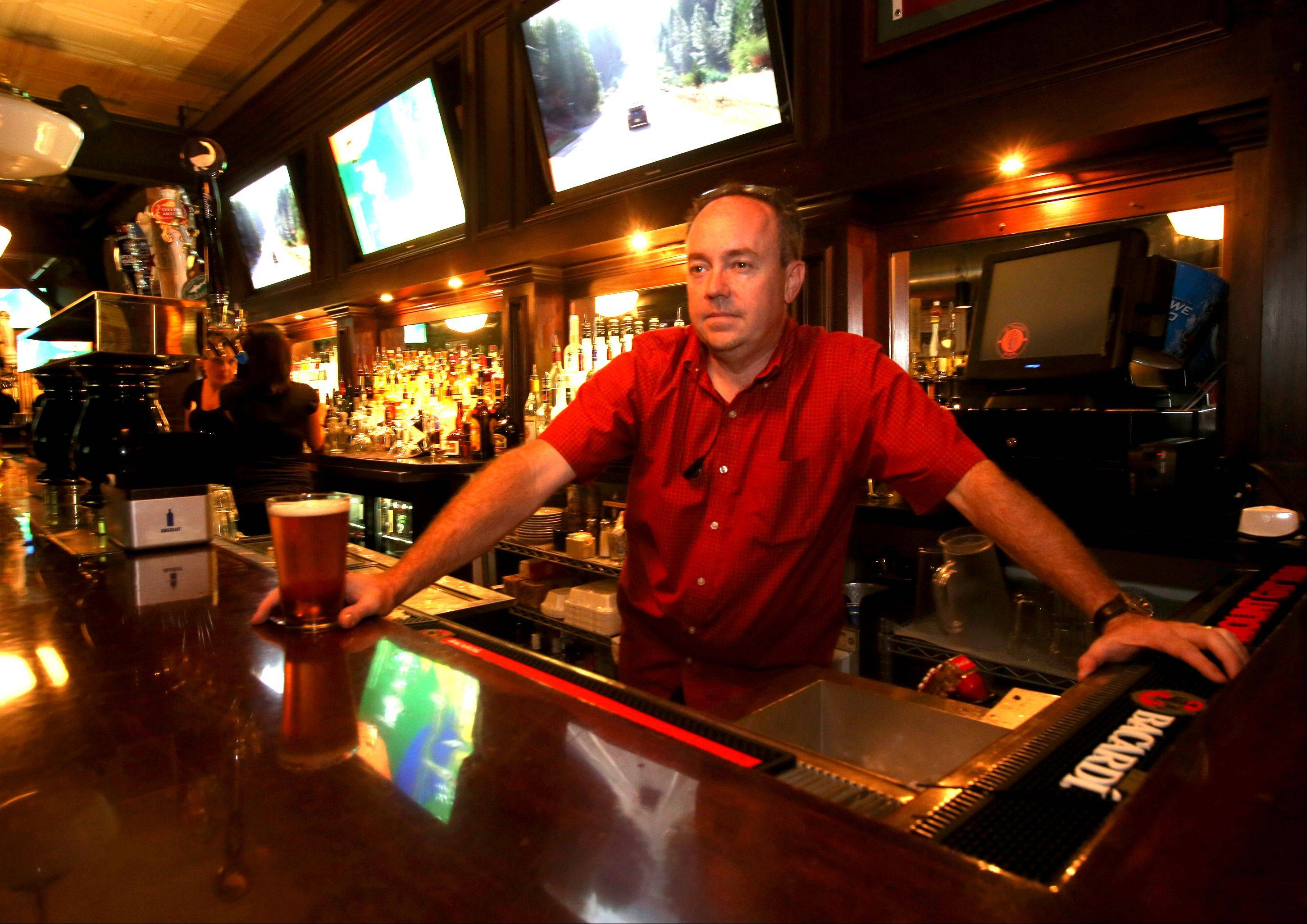 Jim Bergeron is the owner of the Wise Boxer Pour House in downtown Naperville.