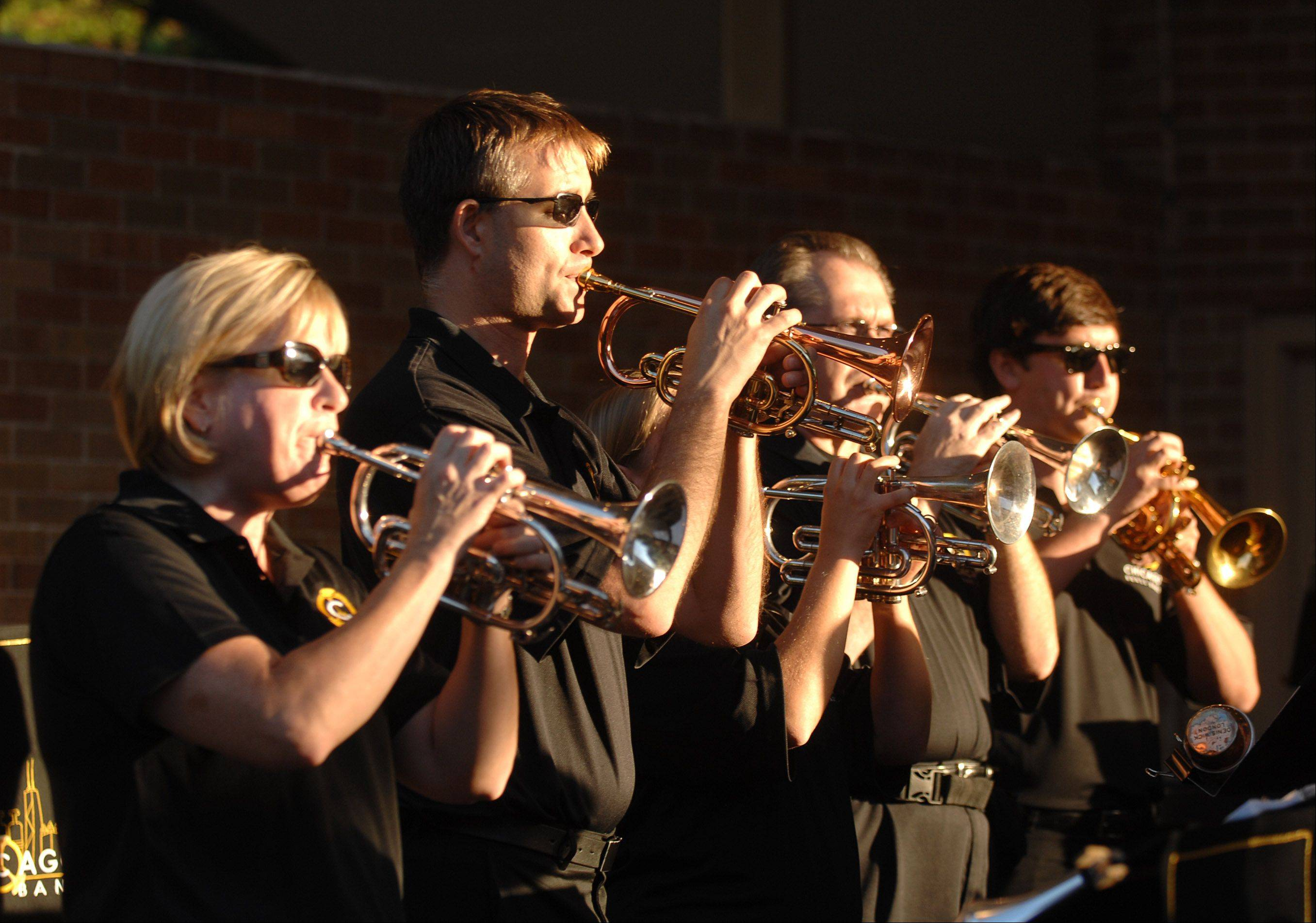 The Chicago Brass Band will kick off the 14th annual Wheaton Band Festival at Memorial Park Friday in Wheaton.