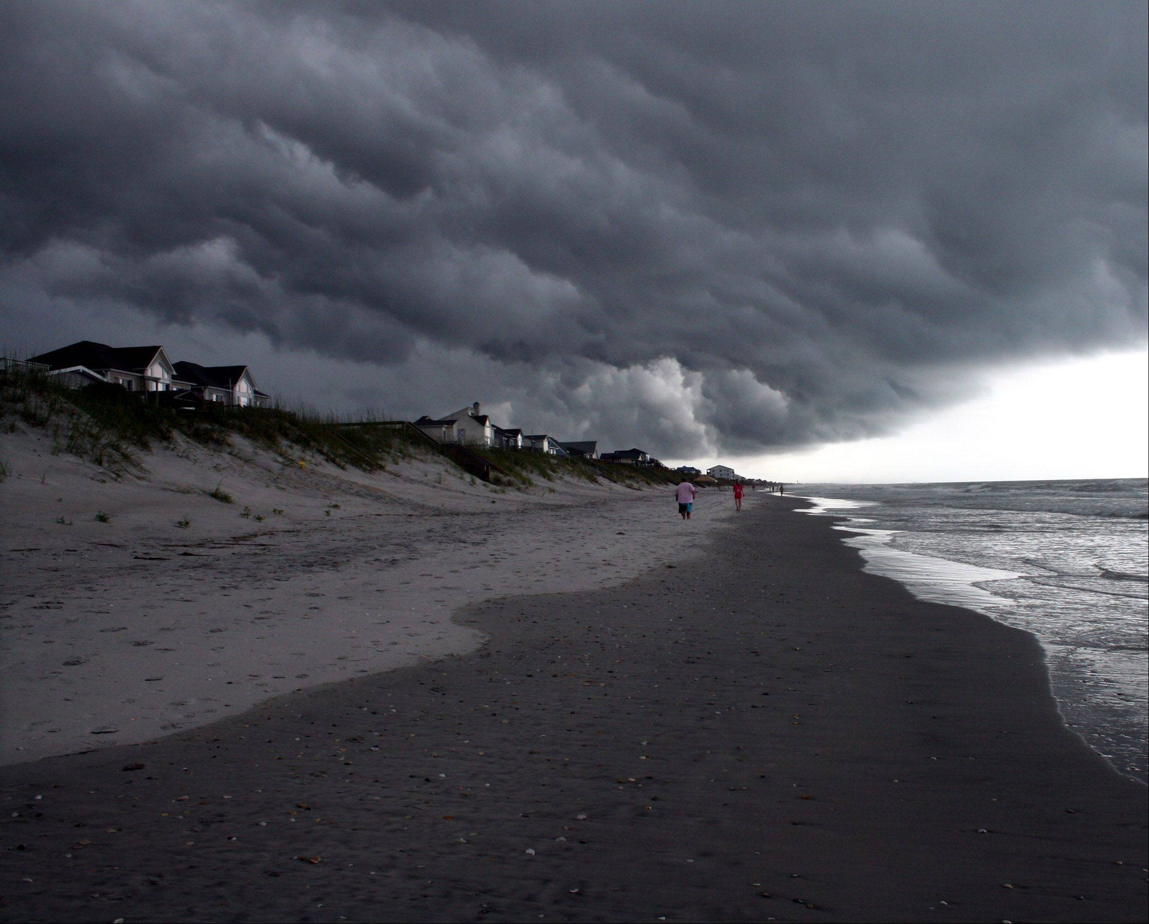 Storms roll in along the Carolina coastline last month