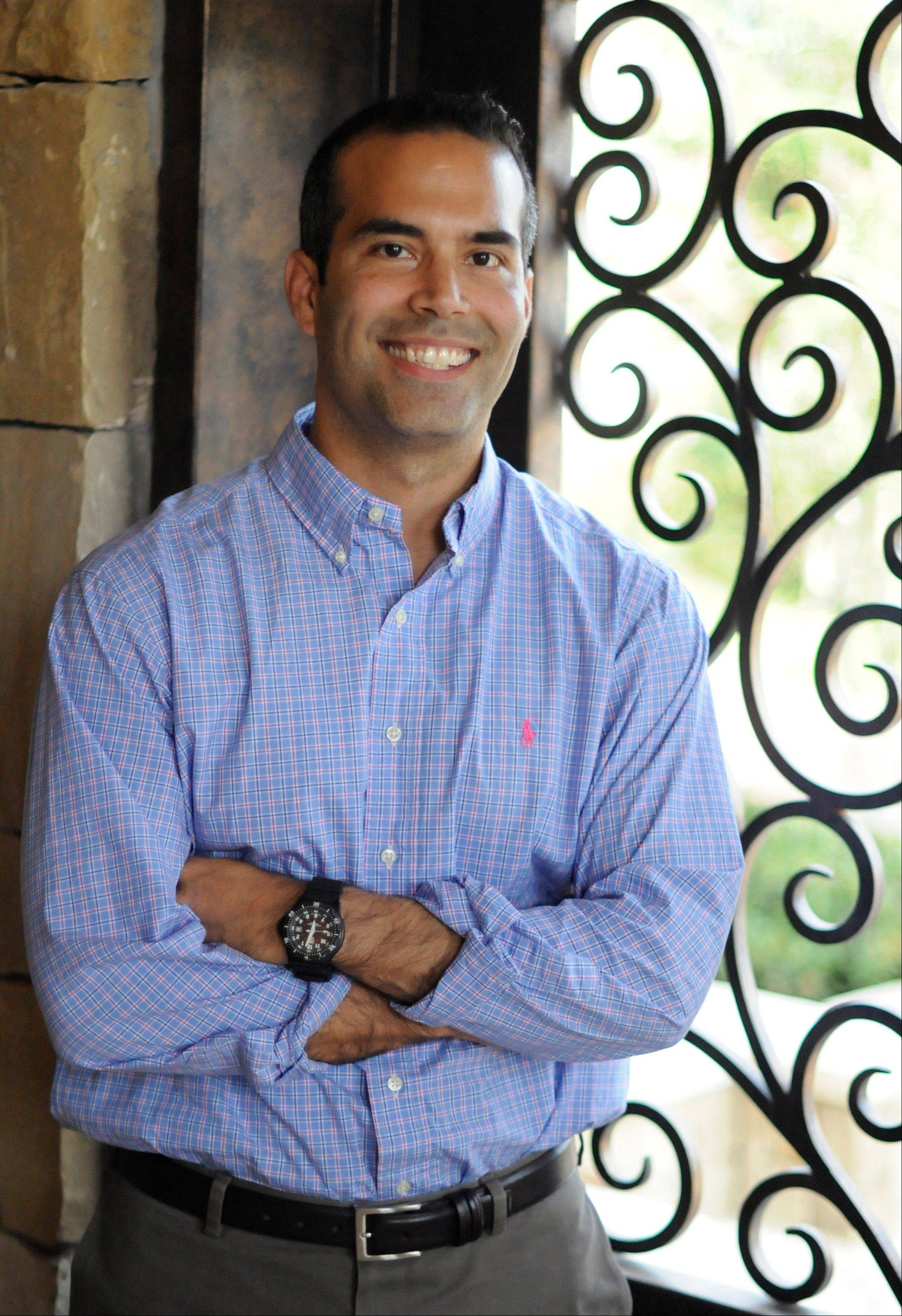 Associated Press George P. Bush, 37, poses for a photo during an interview with The Associated Press in Frisco, Texas.
