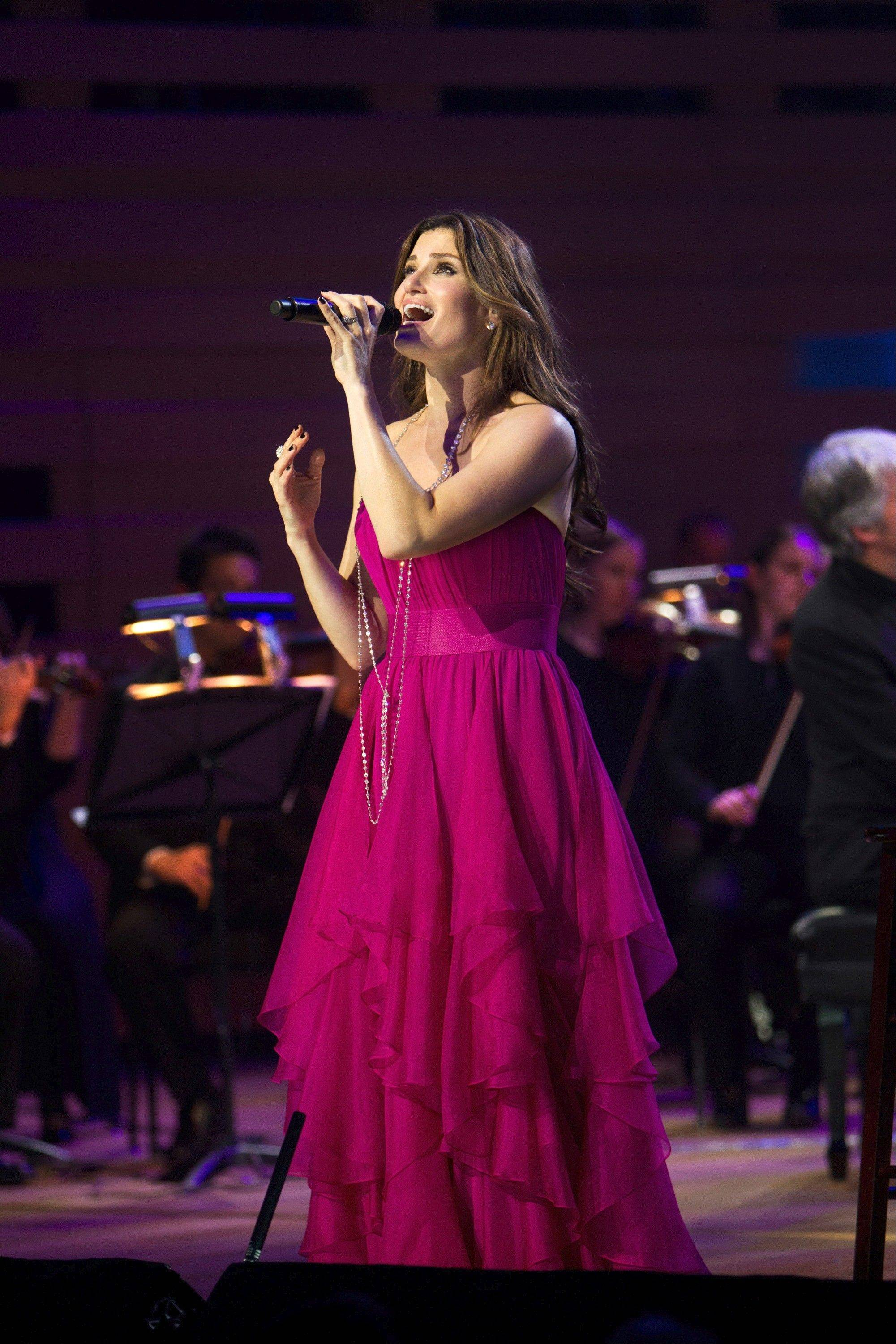 Idina Menzel sings with a 55-piece orchestra at RiverEdge Park in Aurora.