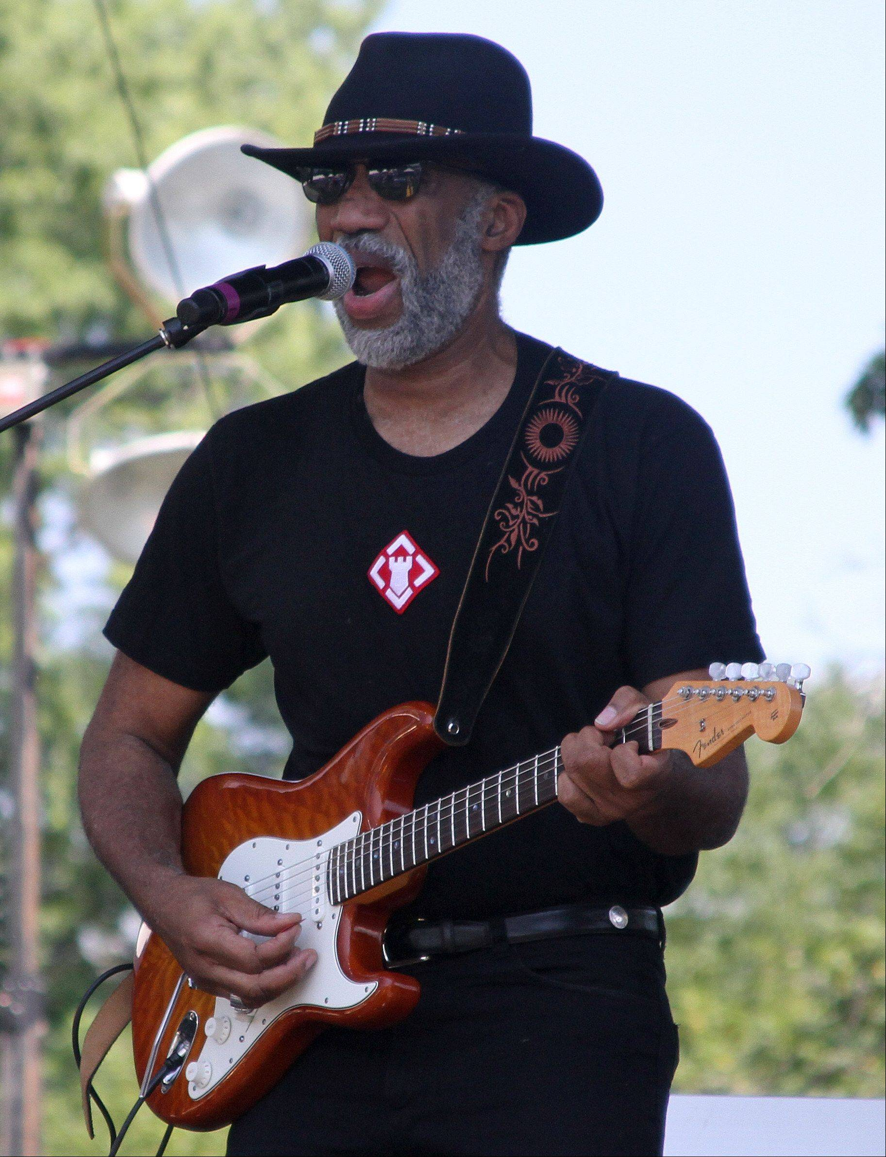 Kimmo Williams performs at the annual Rockin' for the Troops concert to benefit Operation Support Our Troops -- America at Cantigny Park in Wheaton on Saturday.