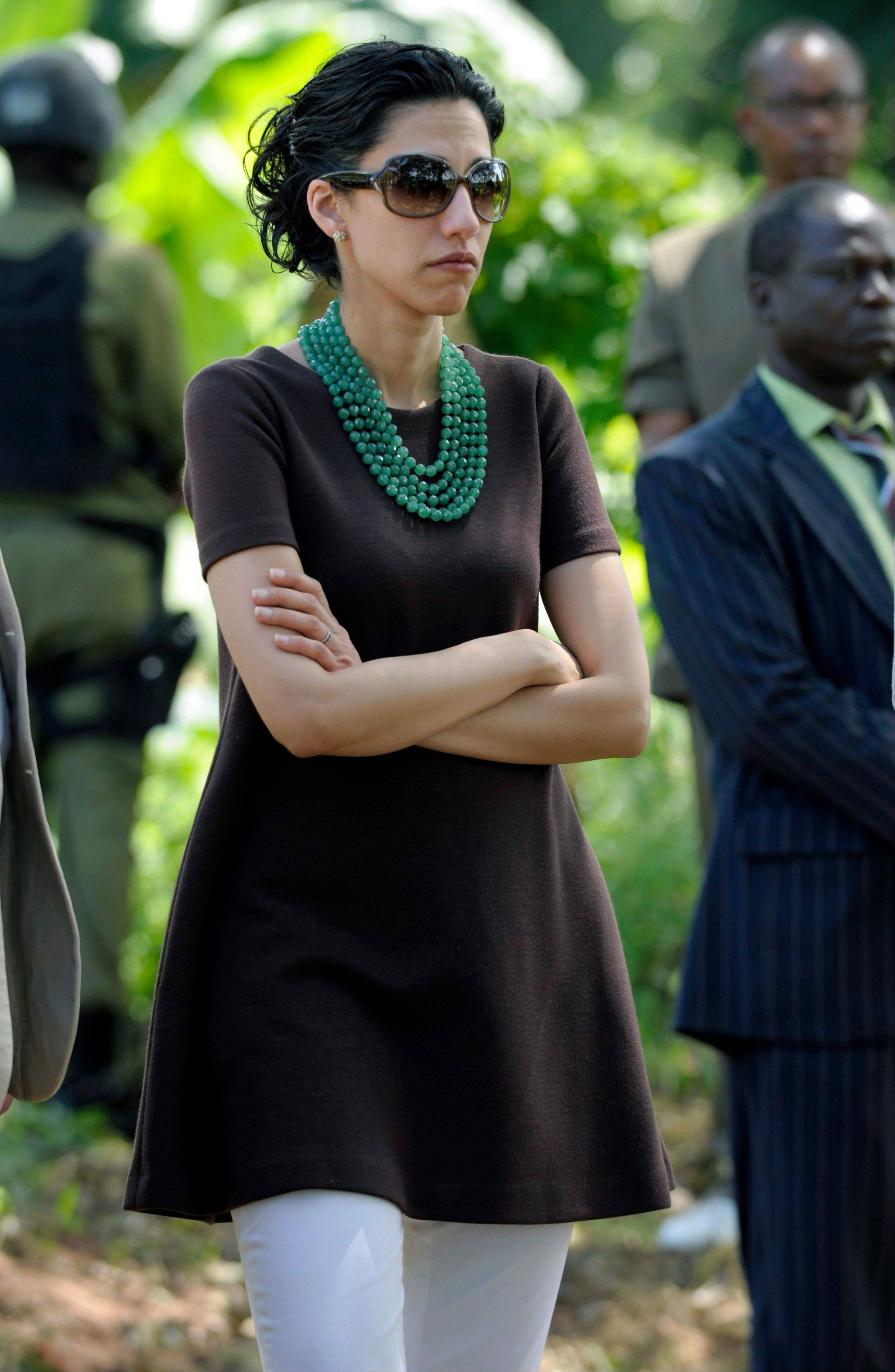 Huma Abedin, an aide to then Secretary of State Hillary Rodham Clinton, attends an event with farmers in Mlandizi, Tanzania, as controversy swirled around Abedin's husband, Anthony Weiner.