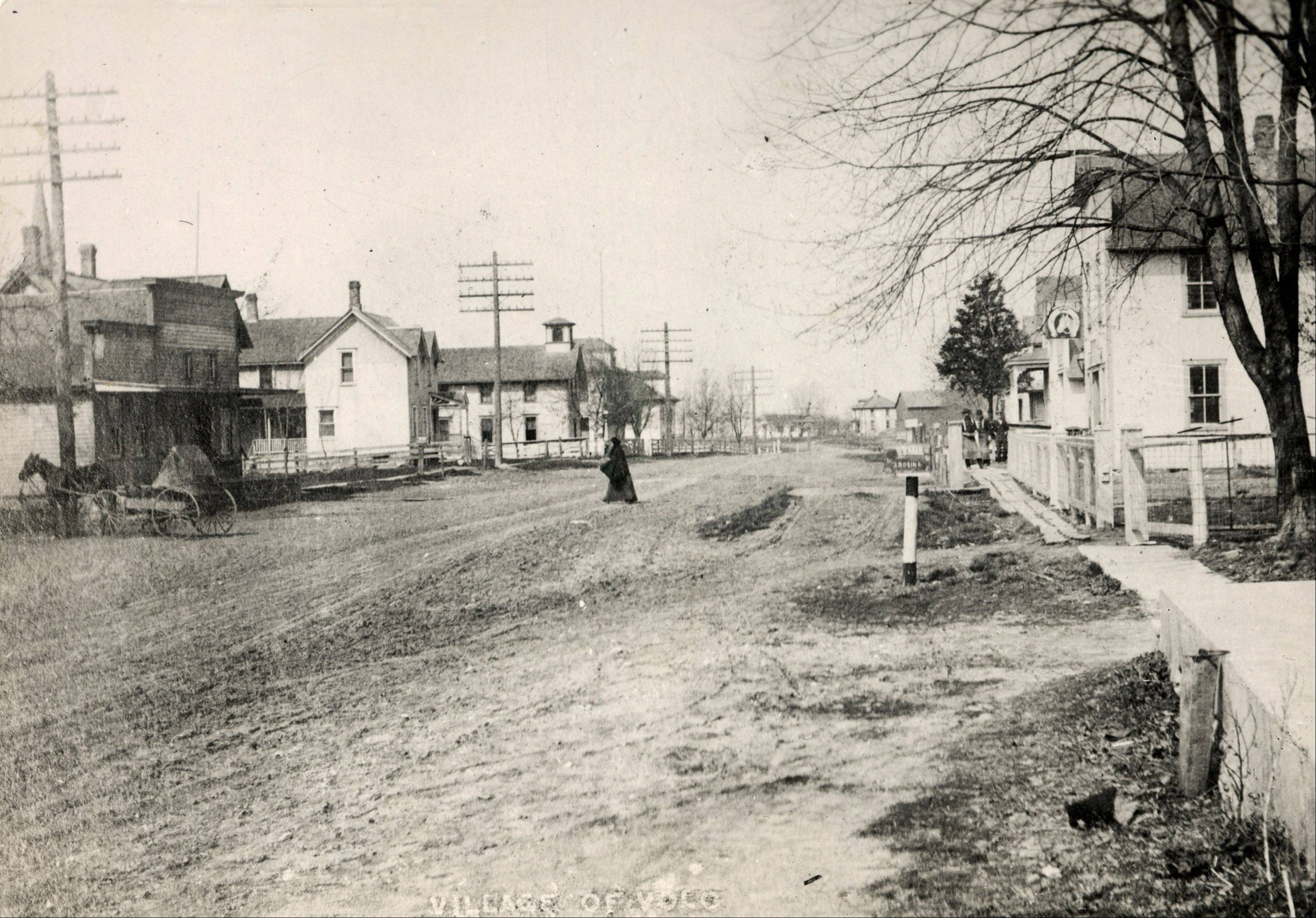 A vintage photo of Main Street in Volo.