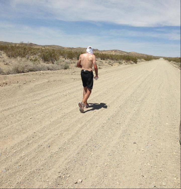 Part of the early leg of Steve Spear's journey across the country took him through the scorching sands of the Mojave Desert.