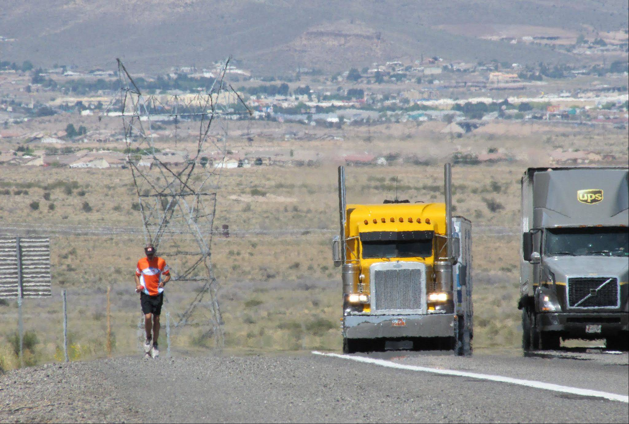 Steve Spear is an unlikely candidate for a run across the United States for charity. He hates running. But the former Willow Creek Community Church pastor said he felt called by God to accomplish this effort. Here he is in New Mexico.