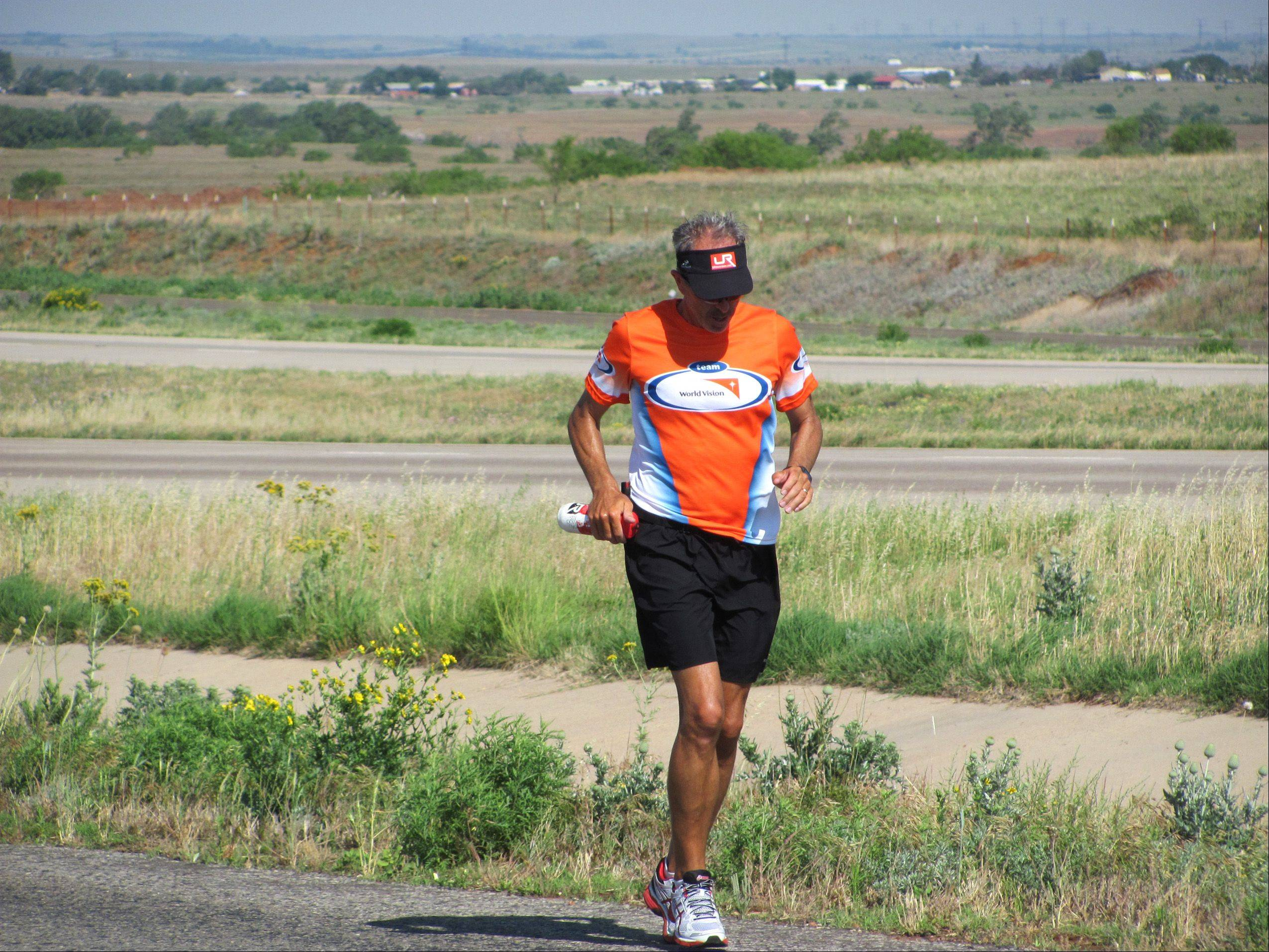 Steve Spear is running from Santa Monica, Calif., to New York to raise awareness and money to address the lack of clean water sources in Africa. If he raises $1.5 million, he will build a clean water system for 30,000 people in Kenya.