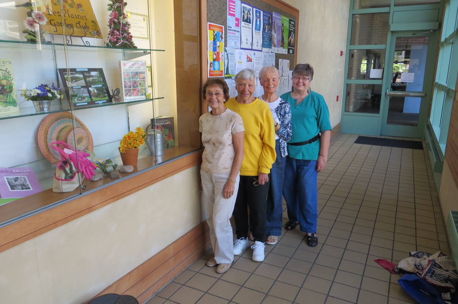 L to R Annette Roeder, Eileen Van Diggelen, Judy Riordan and Ann Ostenson. Picture take at the Des Plaines Library.