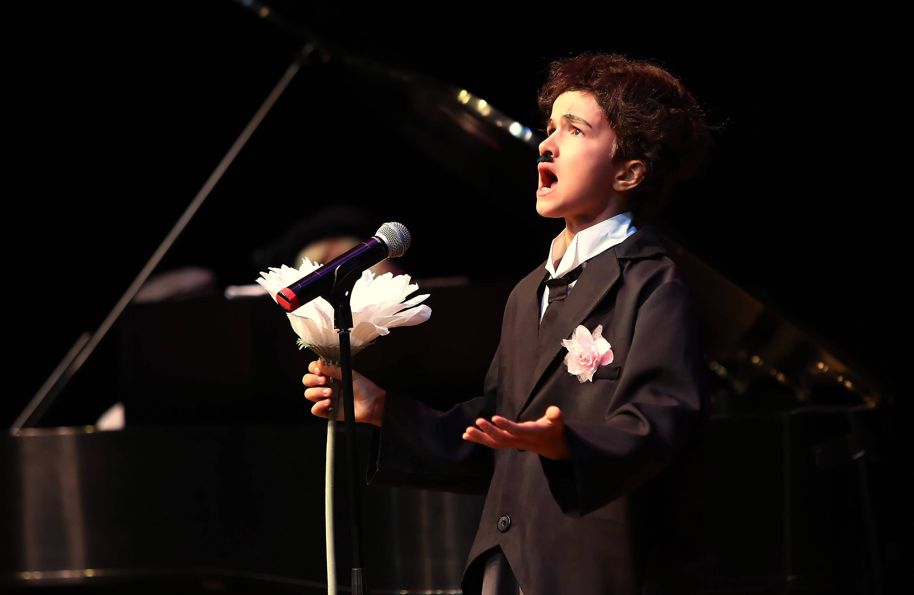 Sheridan Archbold of Yorkville sings during the Suburban Chicago's Got Talent competition Sunday night at the Metropolis Performing Arts Centre in Arlington Heights.
