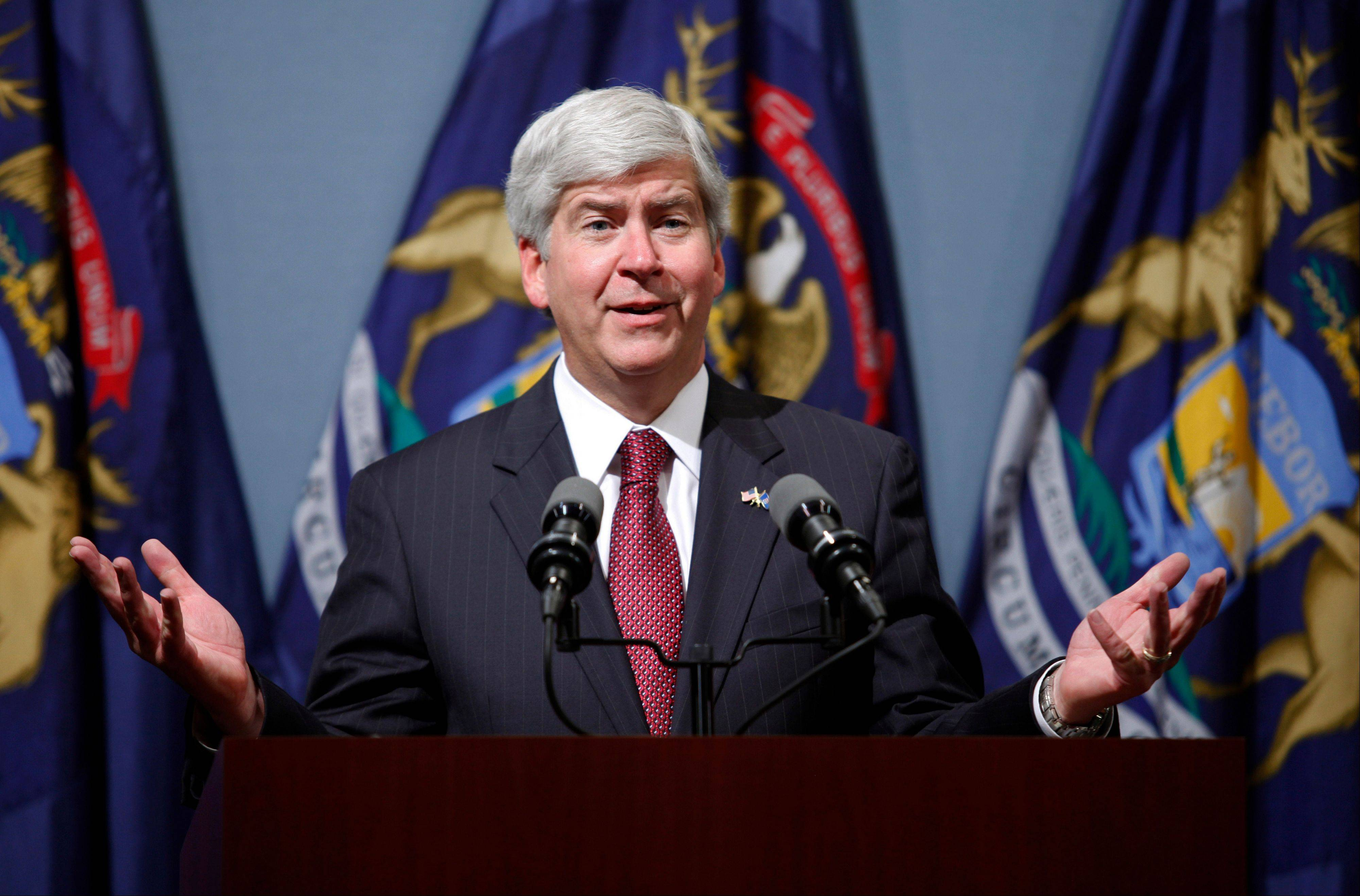 Michigan Gov. Rick Snyder gave his blessing to emergency manager Kevyn Orr�s decision to file for bankruptcy for Detroit.