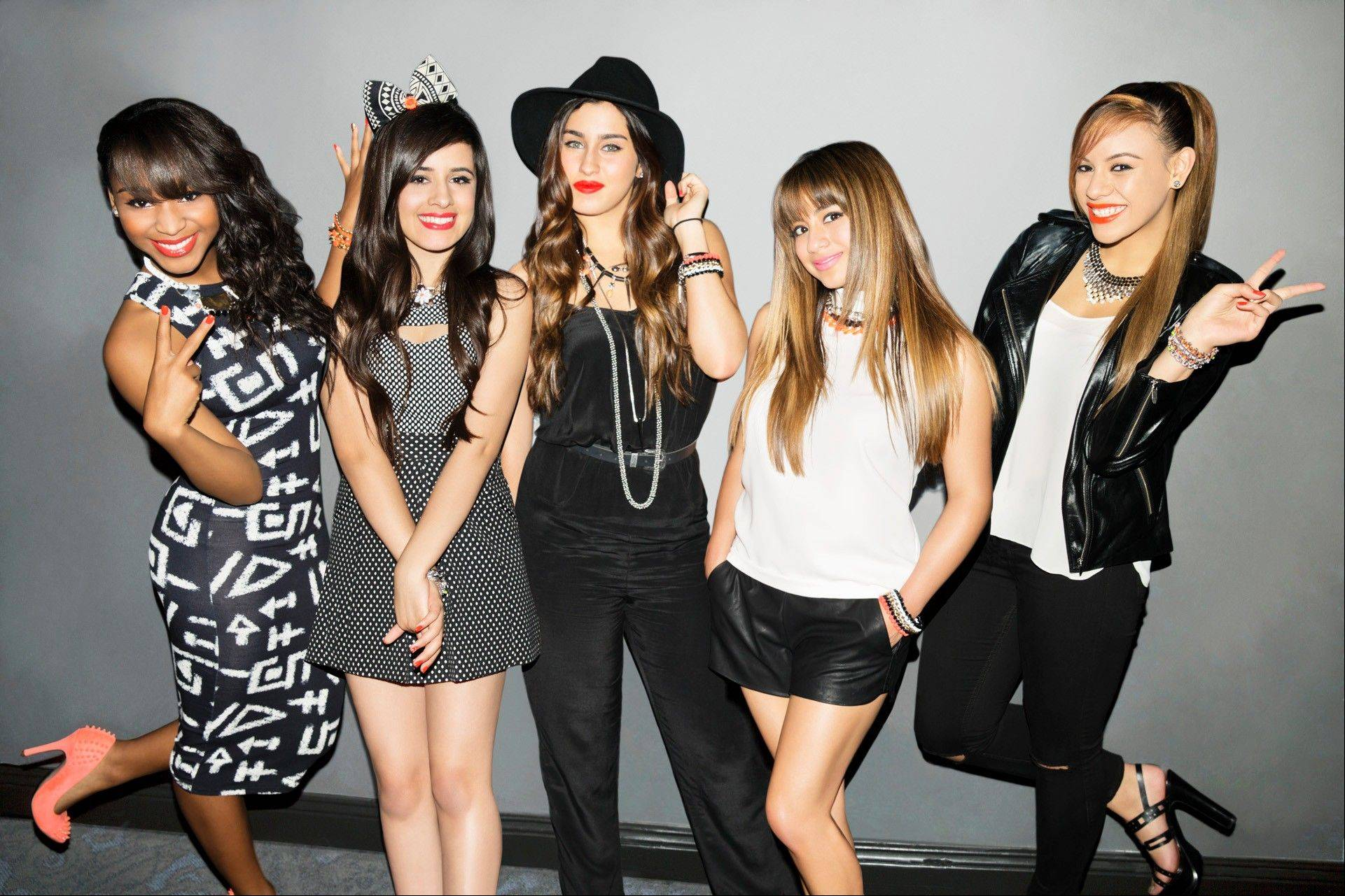 "Fifth Harmony -- Normani Kordei, left, Camila Cabello, Lauren Jauregui, Ally Brooke and Dinah Jane Hansen -- formed on ""The X Factor."""
