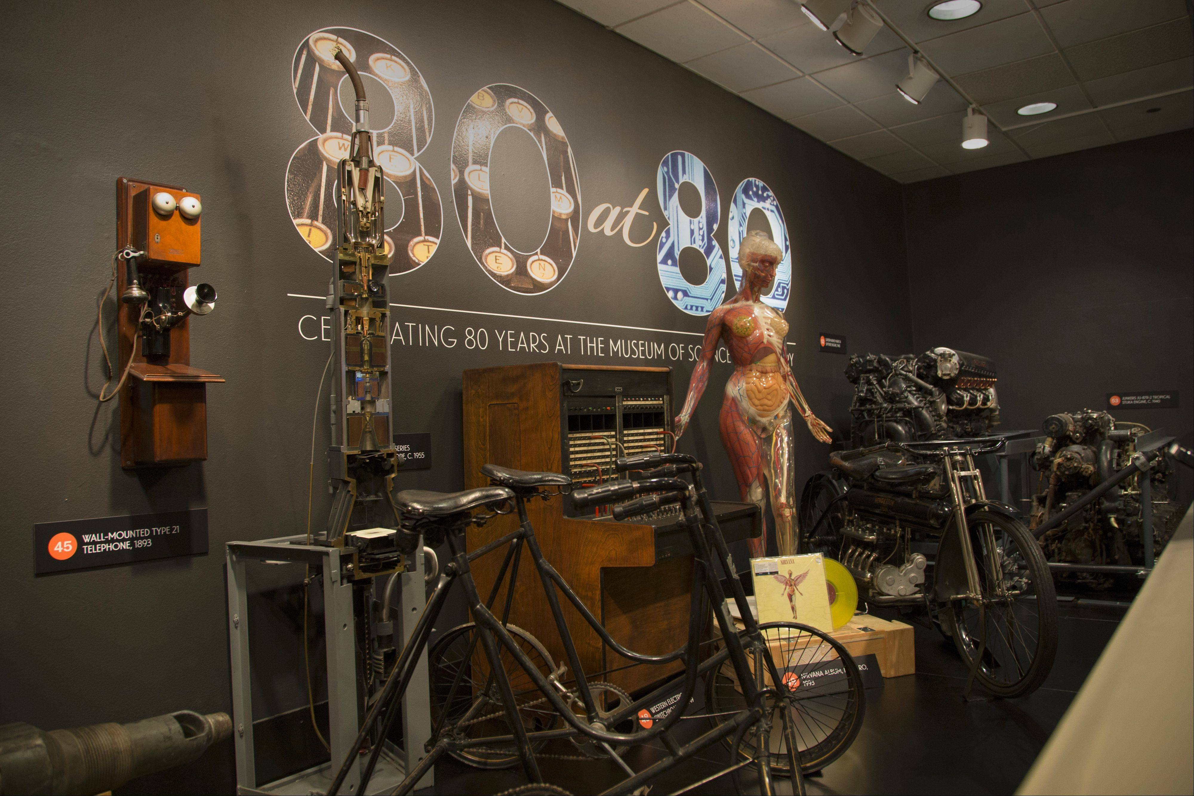 "The new ""80 at 80"" exhibit features a selection of artifacts from the Museum of Science and Industry's collection, selected by curatorial staff. Among the group: the Transparent Anatomical Manikin, or TAM, which was on display in the 1970s."