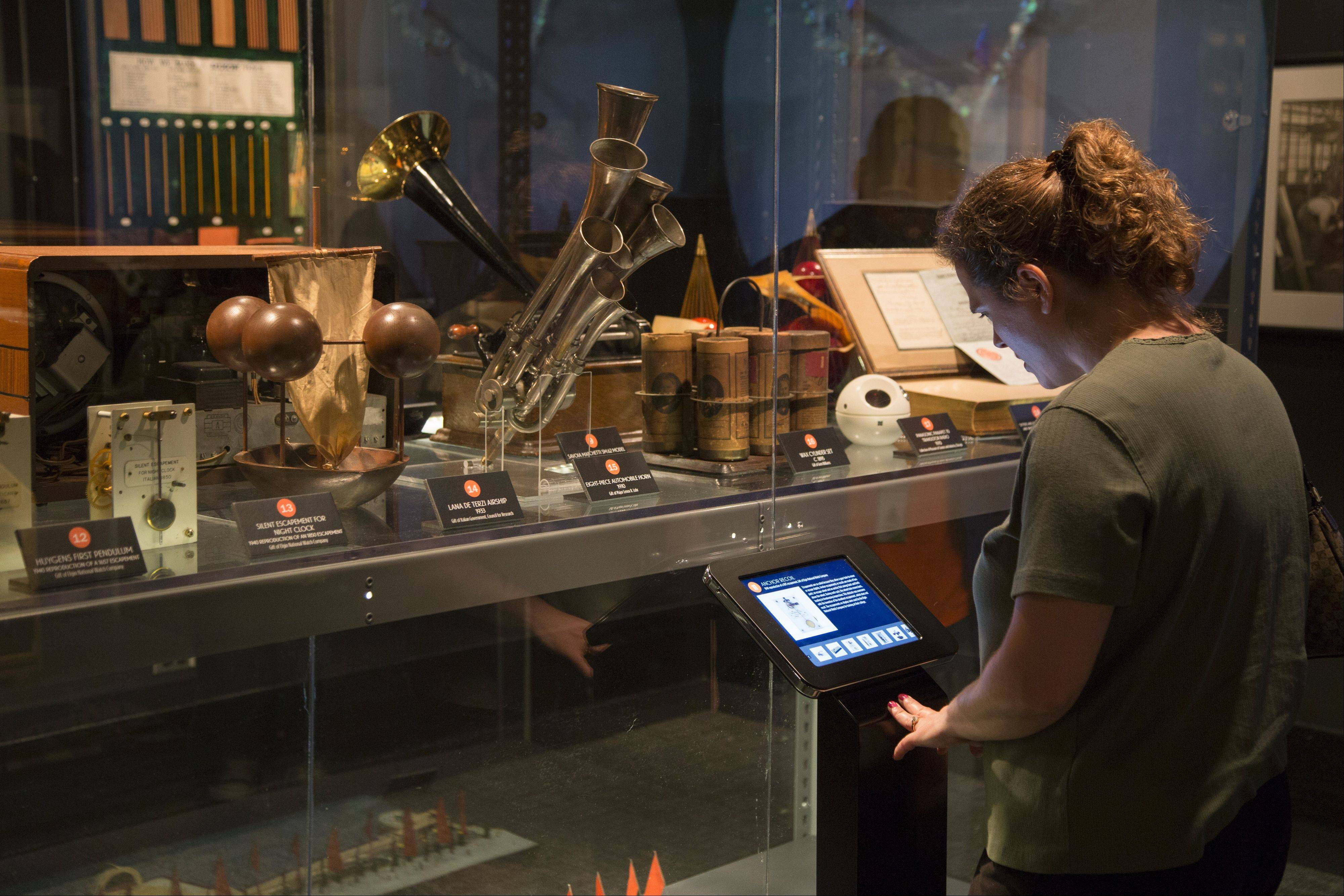 Kiosks with iPads throughout the exhibit provide all kinds of information for the 80 artifacts included.
