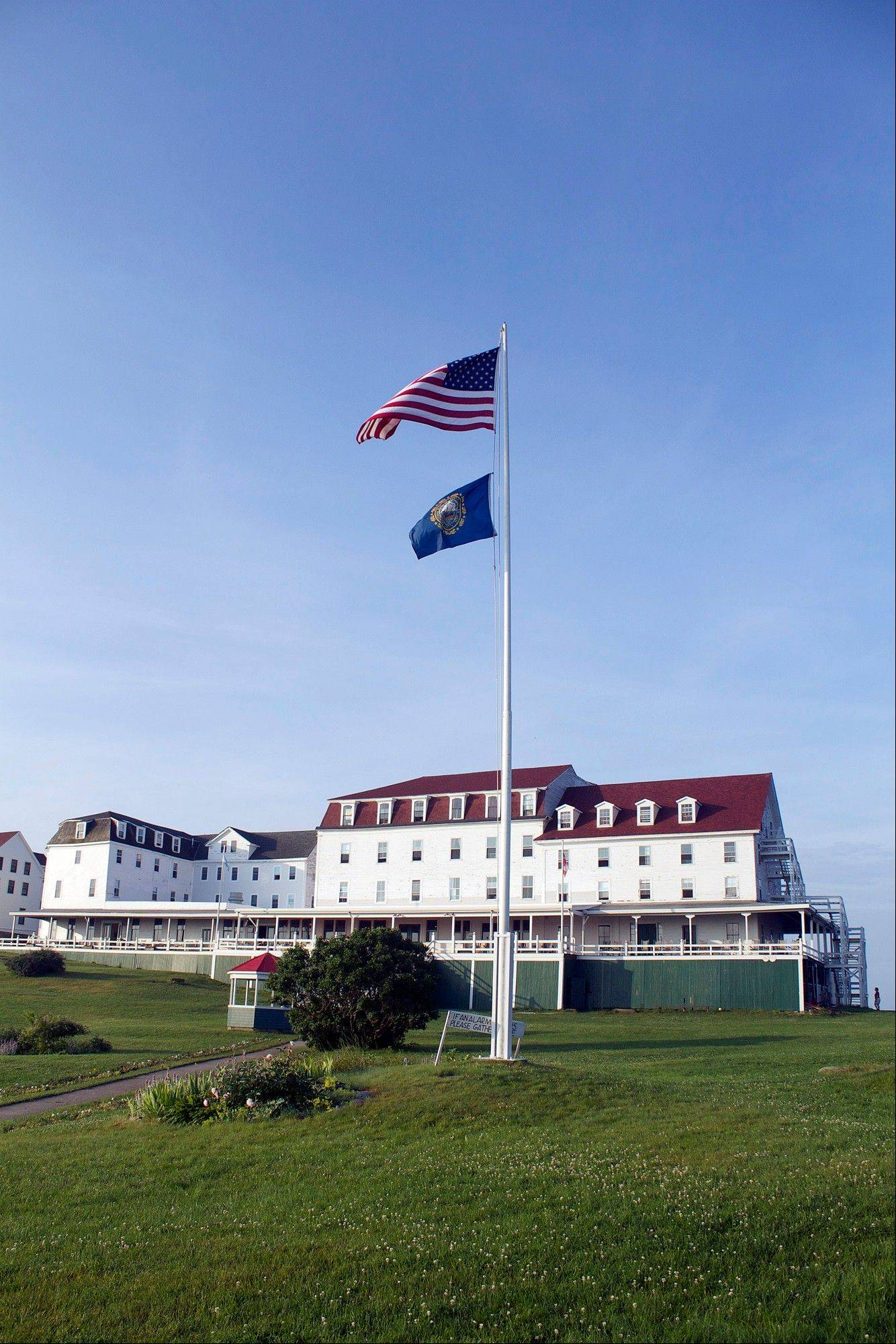 The hotel on the Isles of Shoals Star Island off the New Hampshire coast in Rye, N.H.