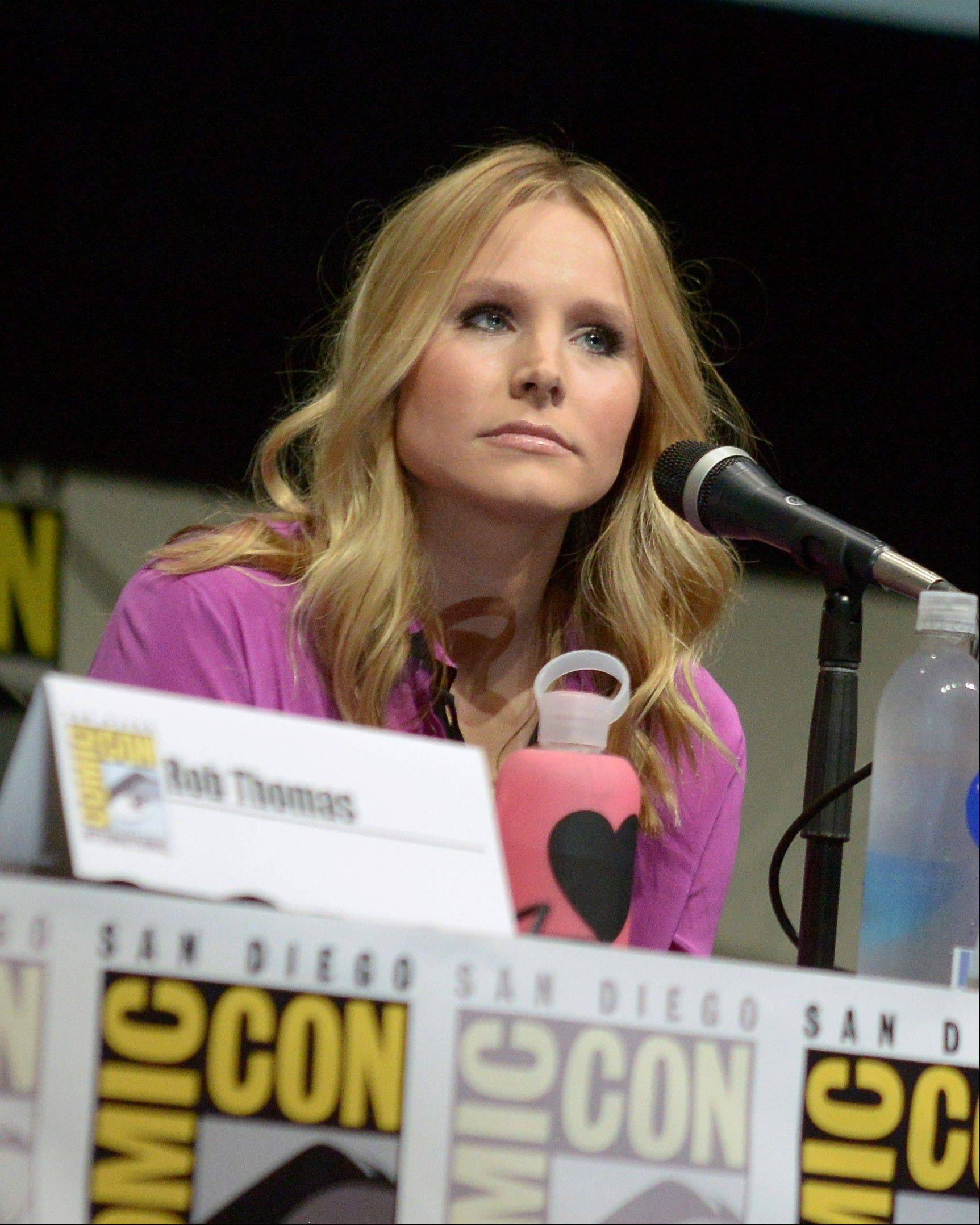 "Kristen Bell participates in the ""Veronica Mars"" panel Friday at Comic-Con International in San Diego. The low-rated TV series will be resurrected as a movie thanks to fans who contributed to a Kickstarter fund."
