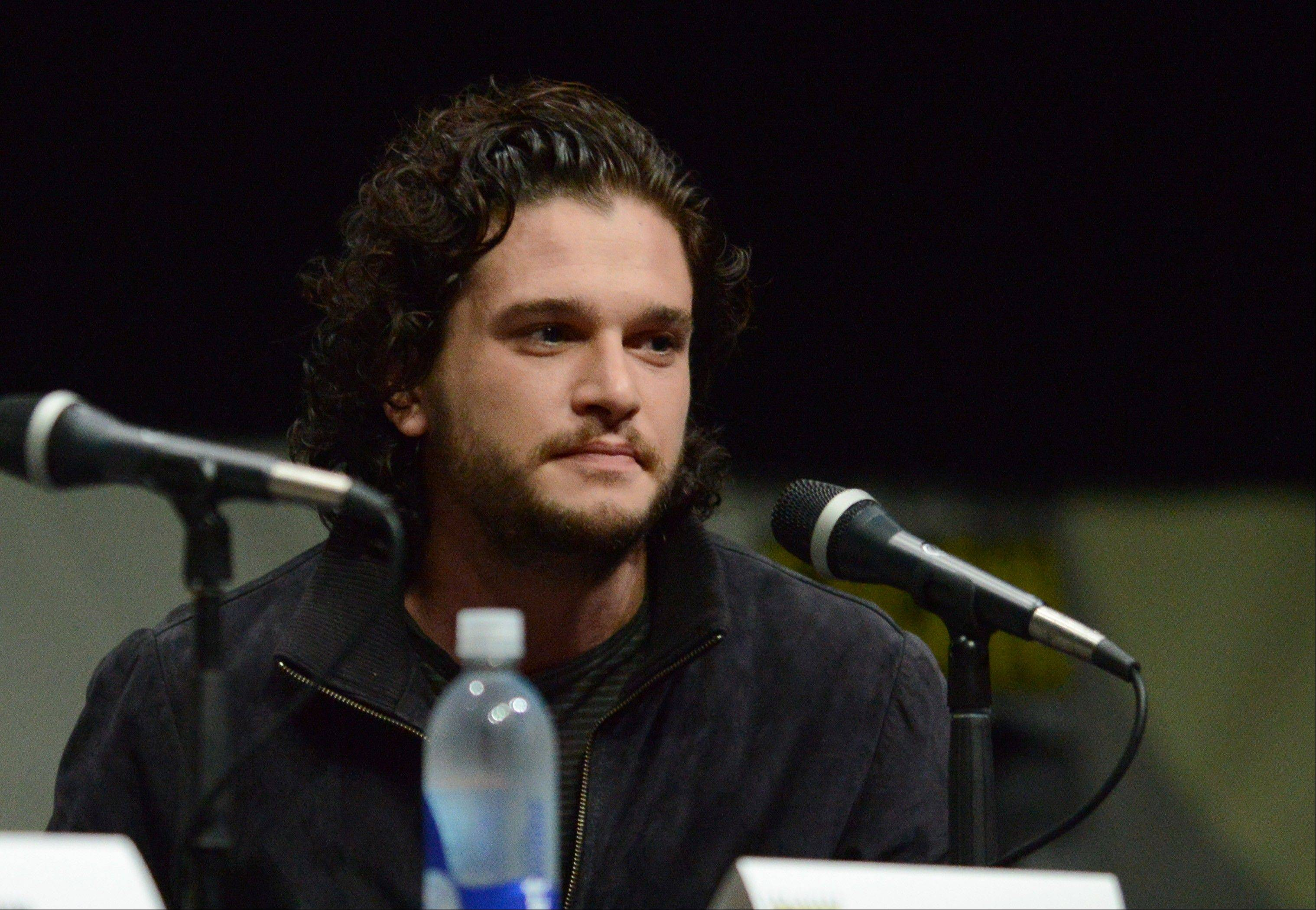 """Game of Thrones"" star Kit Harington attends a panel for his new film, ""Seventh Son,"" Saturday at Comic-Con International in San Diego. The film, based on a novel by Joseph Delaney, opens Jan. 17, 2014, in theaters."