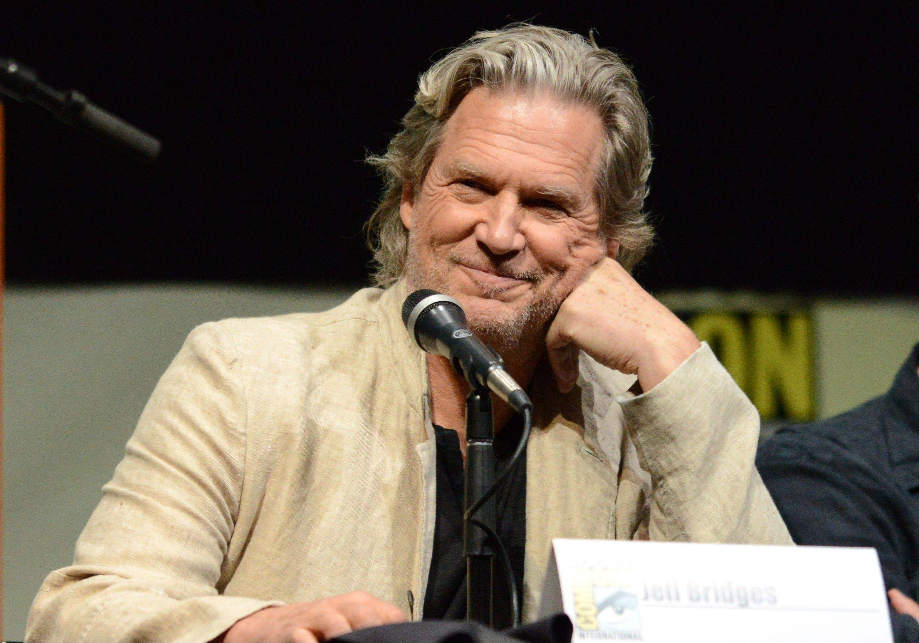 "Jeff Bridges attends the ""Seventh Son"" panel Saturday at Comic-Con International in San Diego. The fantasy film opens Jan. 14, 2014."
