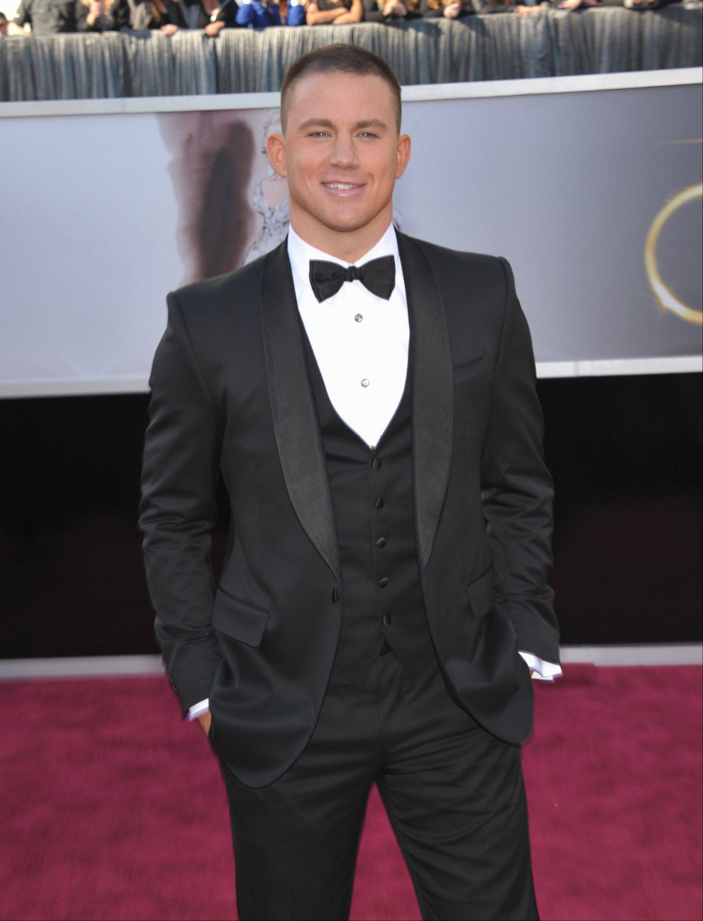 Actor Channing Tatum arrives at the 85th Academy Awards at the Dolby Theatre on Sunday Feb. 24, 2013, in Los Angeles.\