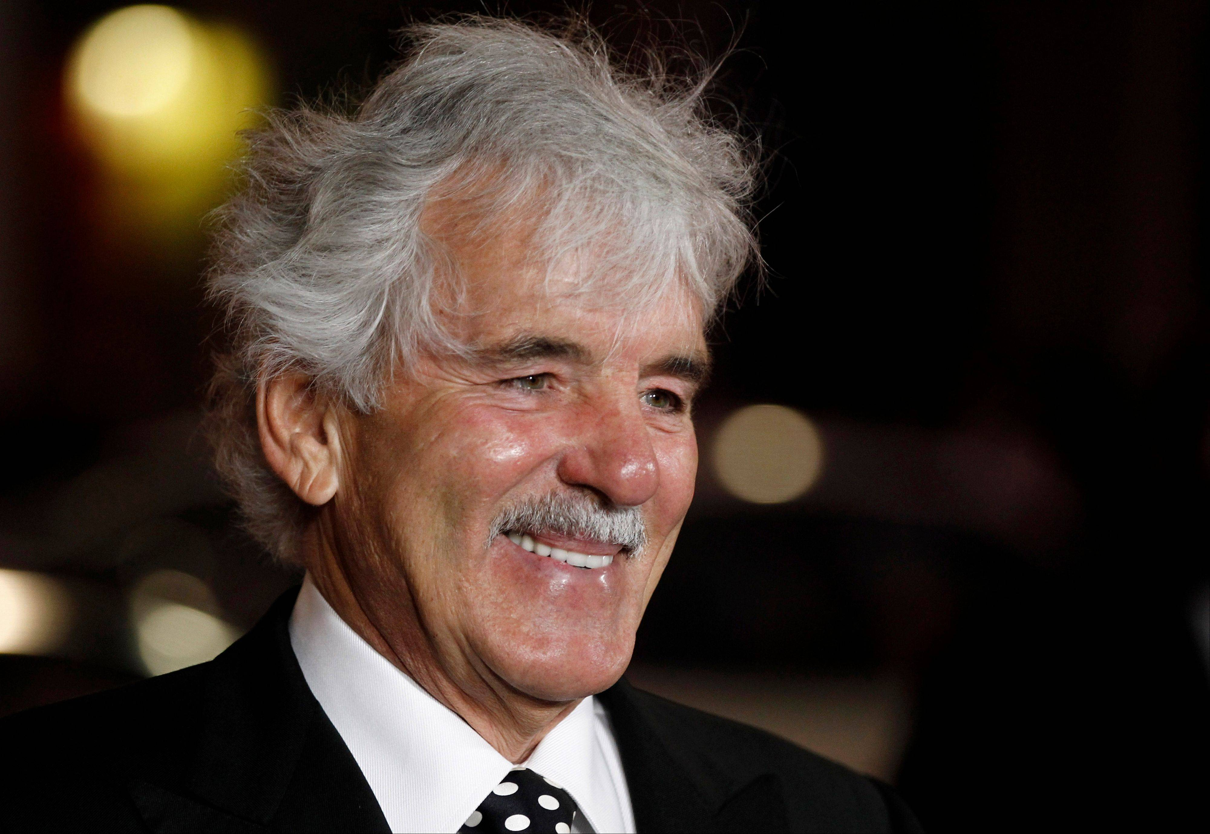"In this 2012 file photo, Dennis Farina arrives at the premiere for the HBO television series ""Luck"" in Los Angeles. Farina died suddenly on Monday in Scottsdale, Ariz., after suffering a blood clot in his lung. He was 69."