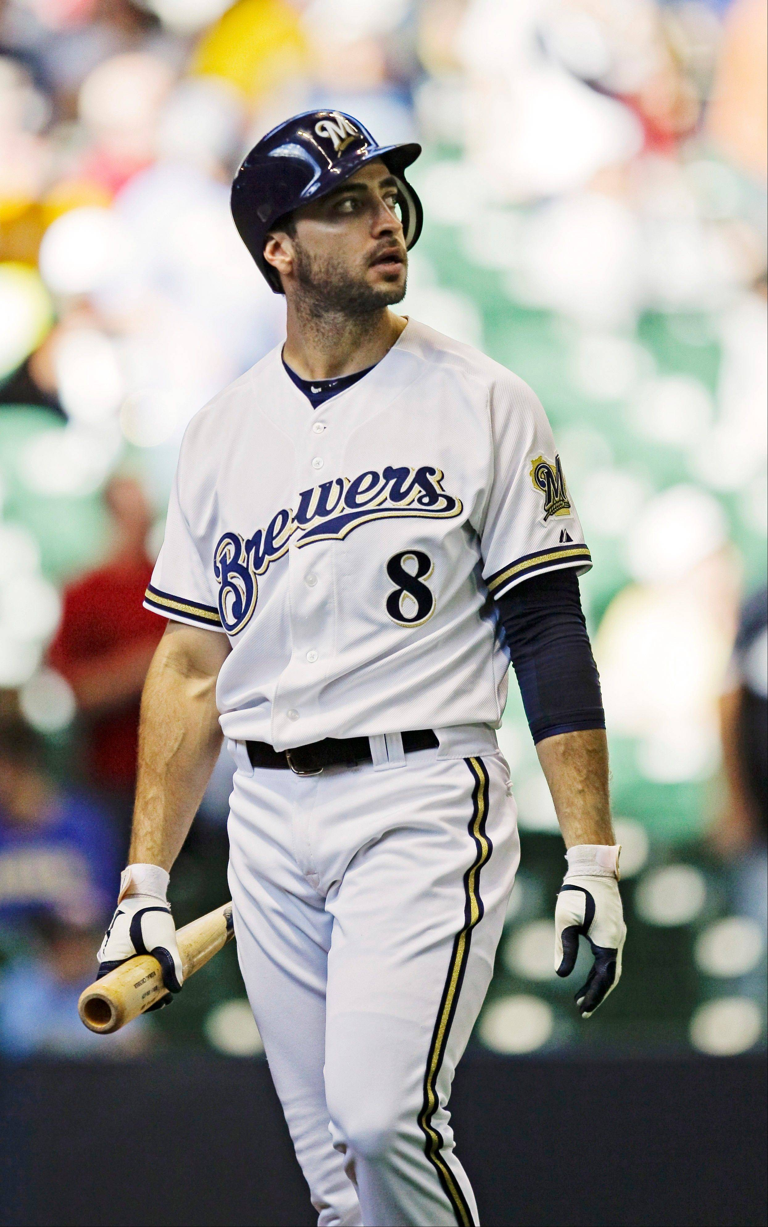 The Milwaukee Brewers� Ryan Braun has been suspended without pay for the rest of the season, admitting he �made mistakes� in violating Major Leauge Baseball�s drug policies.
