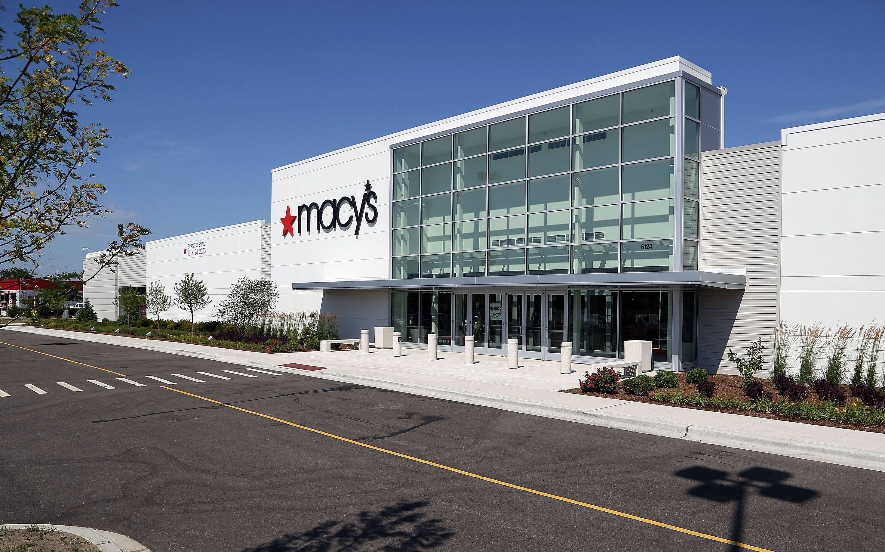 Macy's prepares for Wednesday's opening at Gurnee Mills.