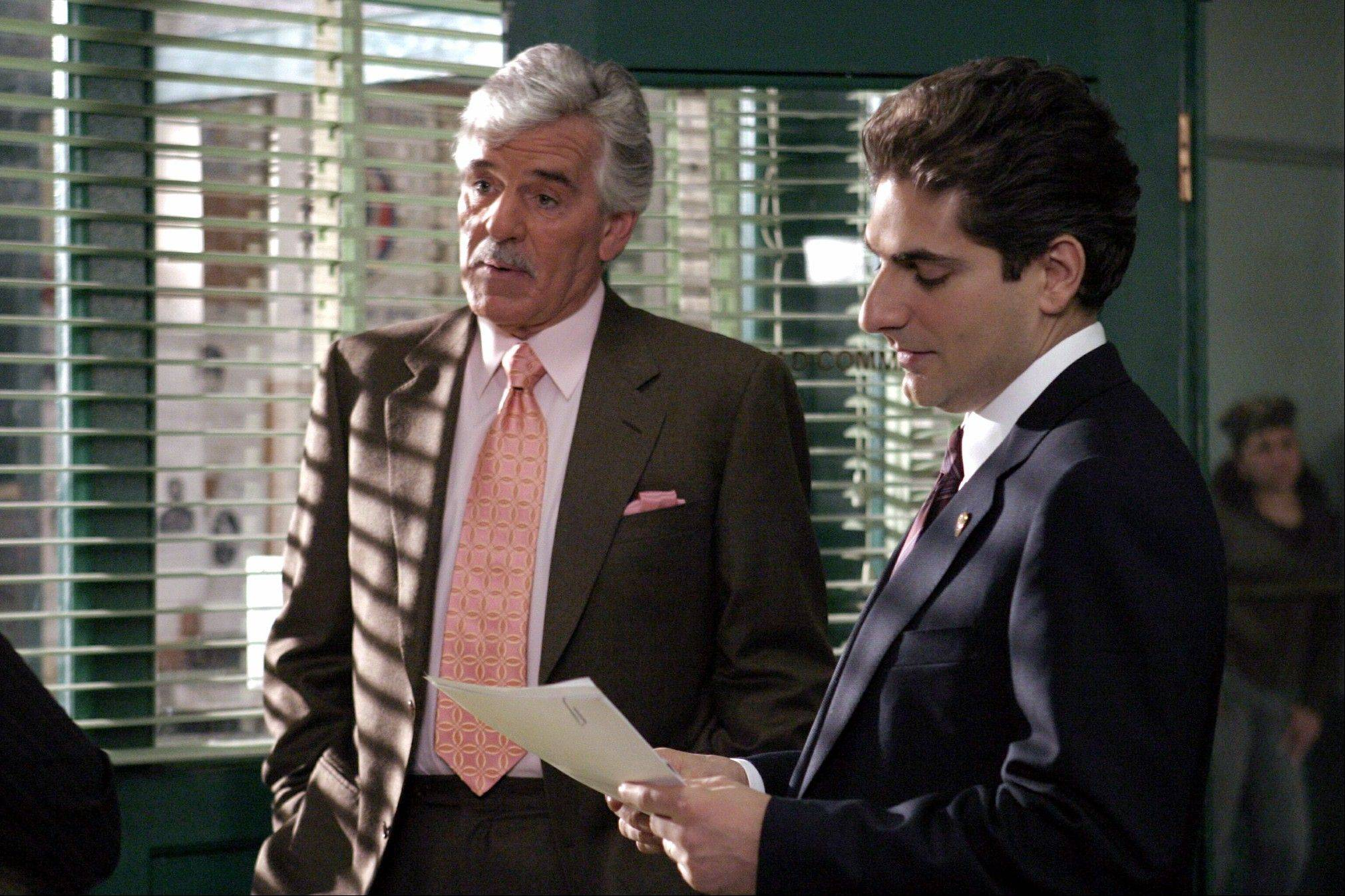 "Dennis Farina, who plays New York Police Detective Joe Fontana, acts in a scene with Michael Imperioli as Detective Nick Falco, in an episode from NBC's police drama,""Law & Order."" Farina died suddenly Monday in Scottsdale, Ariz., after suffering a blood clot in his lung. He was 69."
