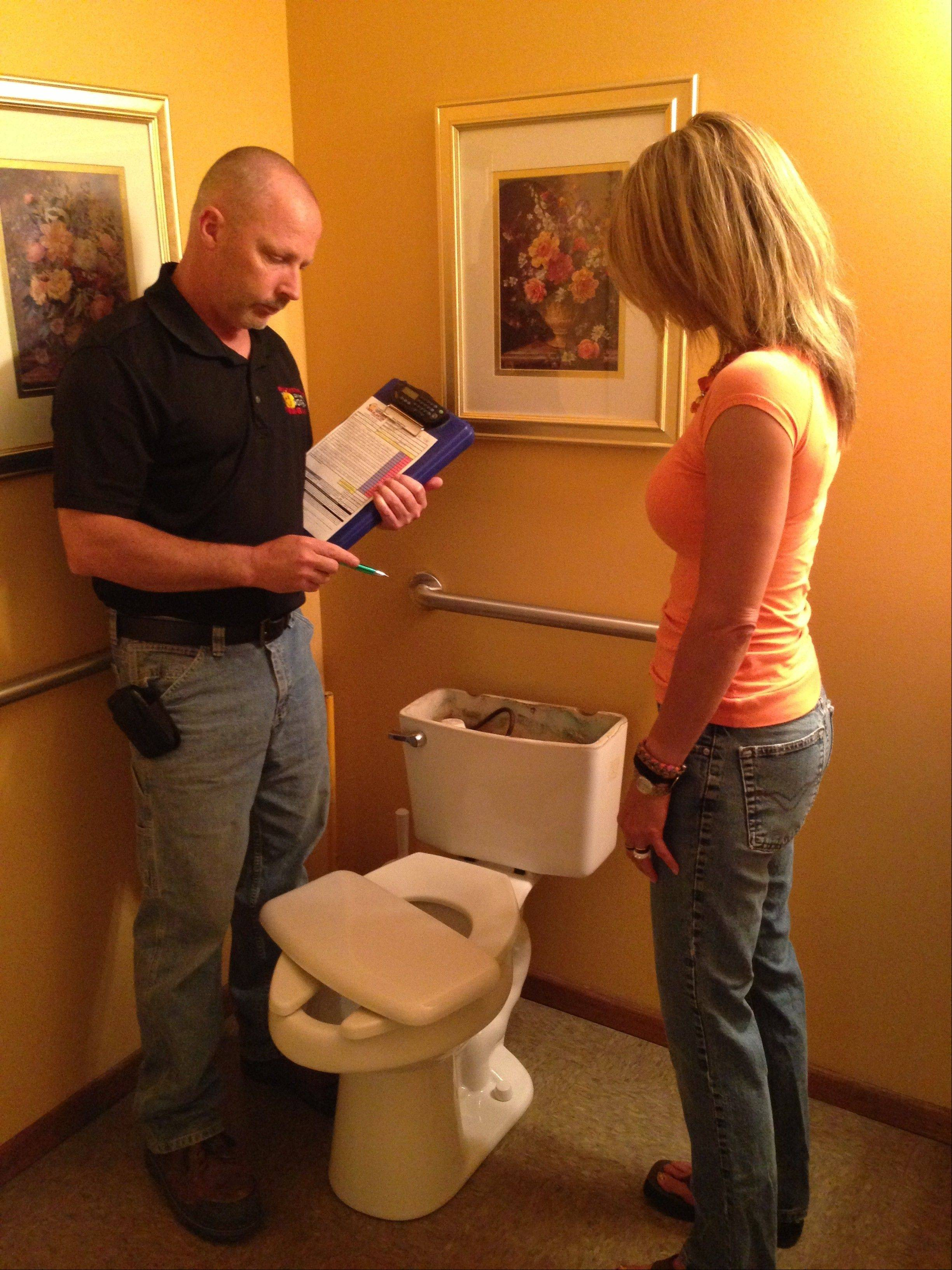 Maintenance rodding of the main sewer line leaving a home can prevent damage from backed-up toilets and floor drains.