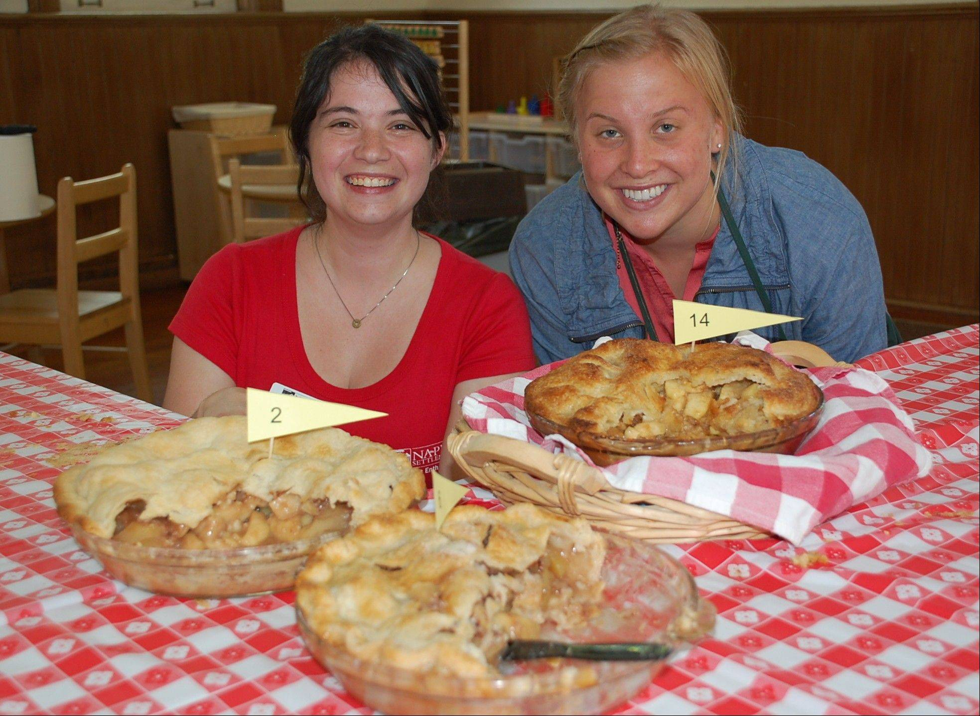 Naper Settlement Learning Experiences coordinator Jenn Edginton and volunteer Amy Ramsland organized the 2012 apple pie baking contest at Naper Settlement.