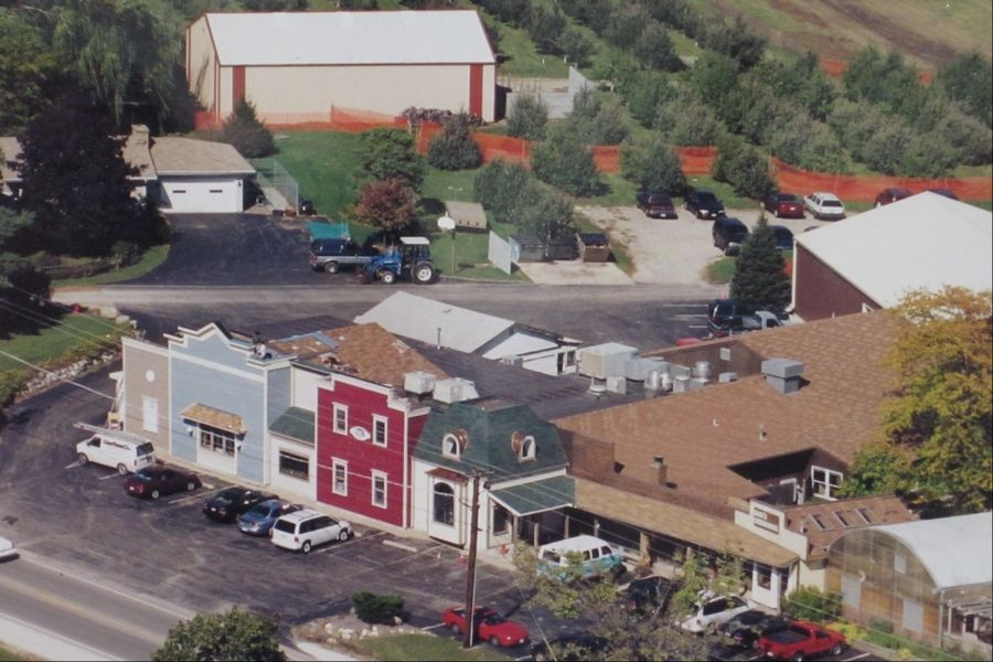 This aerial view shows Quig's Orchard, which operated for more than 50 years on Route 83 in Mundelein.