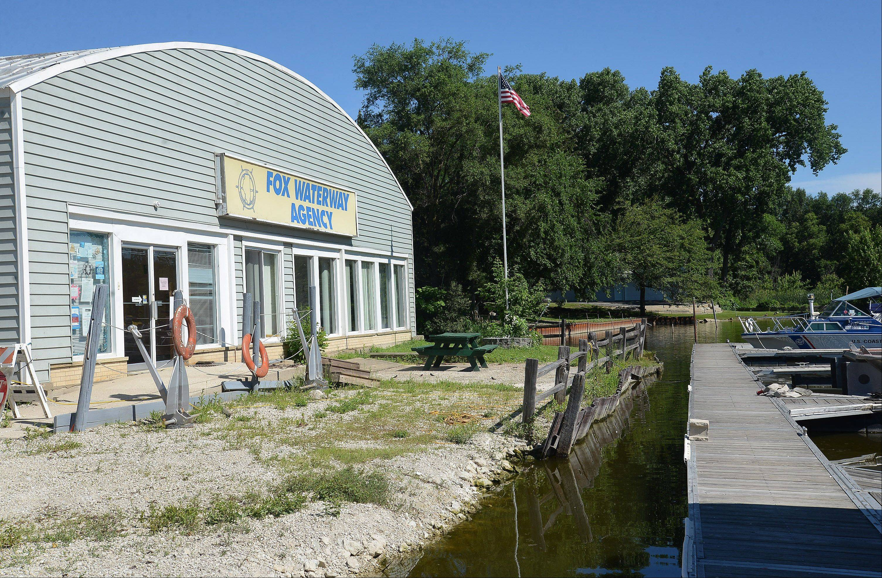 The Fox Waterway Agency building in Fox Lake was flooded in April.