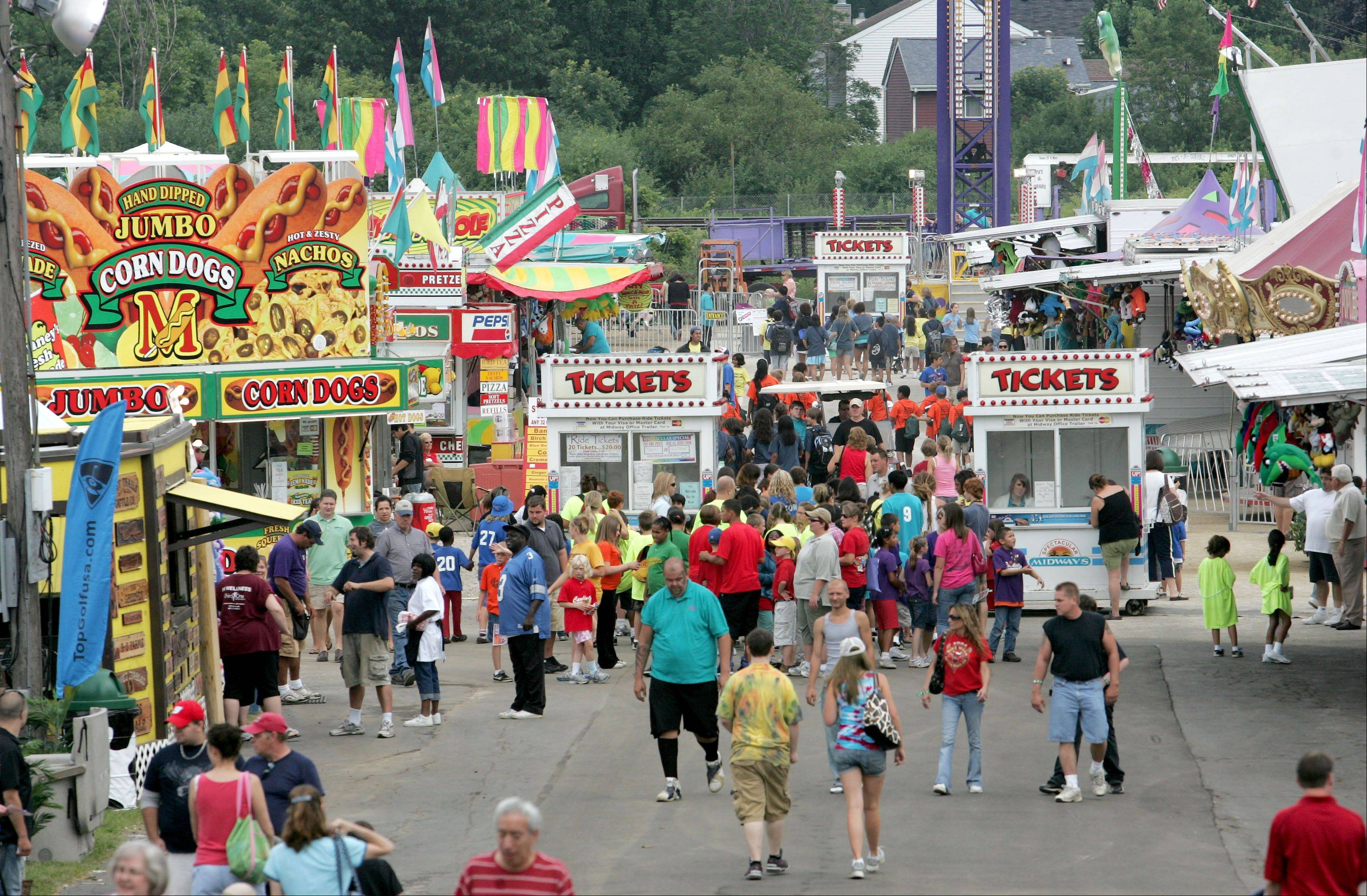 The DuPage County Fair returns Wednesday to Wheaton and runs from 8 a.m. to 11 p.m. each day through Sunday at 2015 Manchester Road.