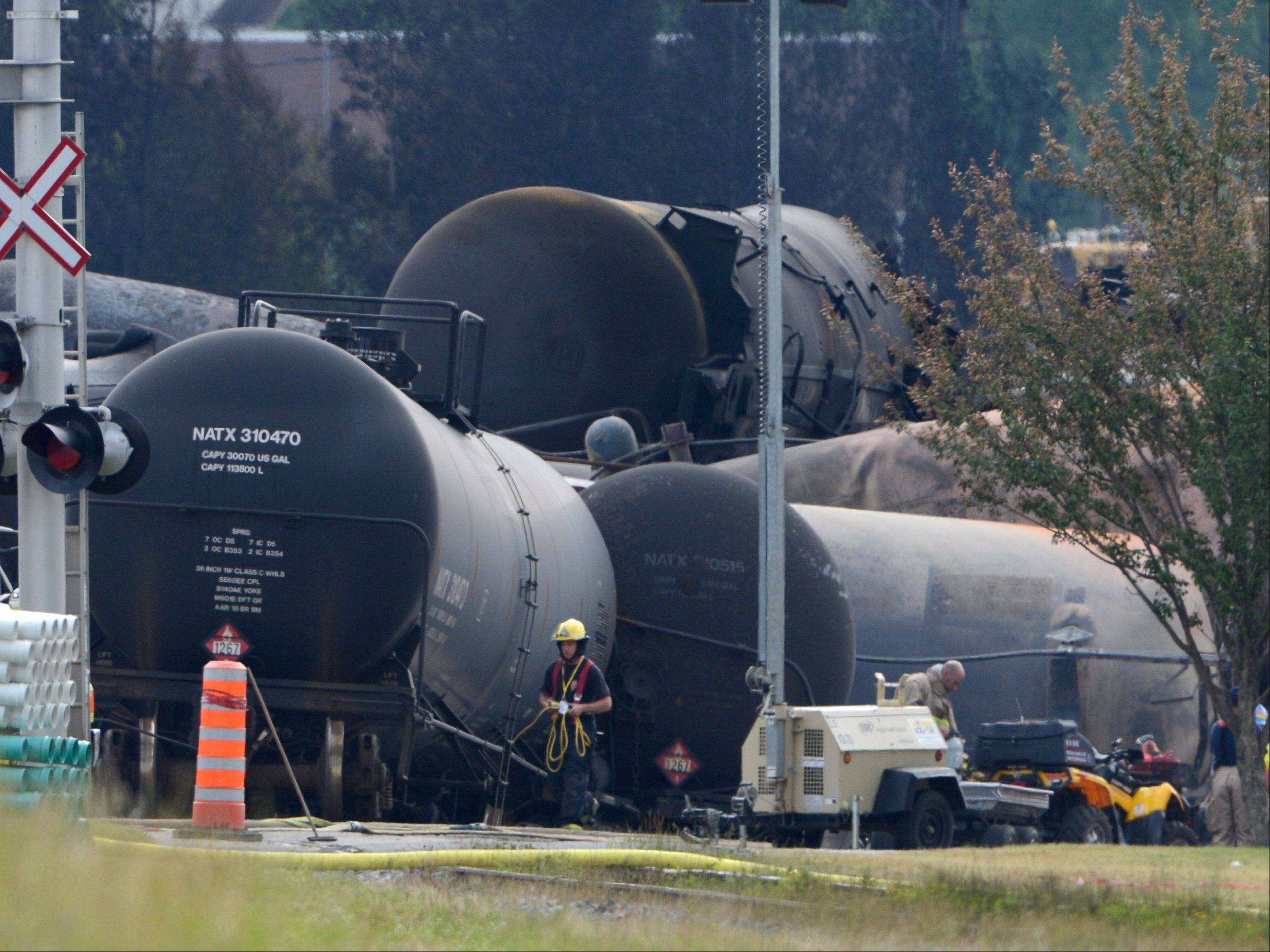 The family of one of 50 people who died in a fiery Canadian oil-train explosion is suing the train's Rosemont owners, Rail World.
