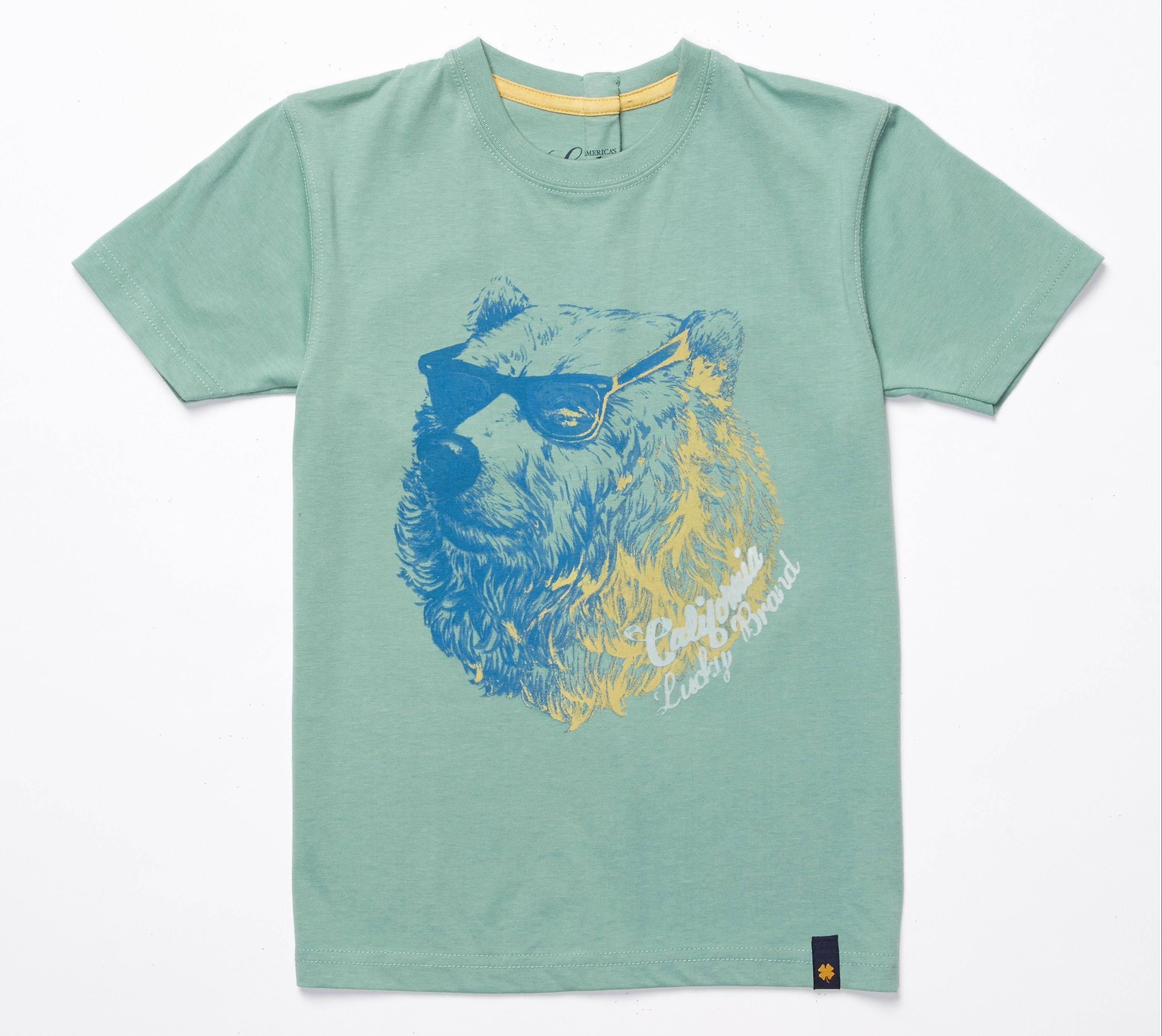 Dress your elementary-schooler up in a bold, graphic tee. $22 at Lucky Brand, $START_URL$luckybrand.com;http://www.luckybrand.com$STOP_URL$
