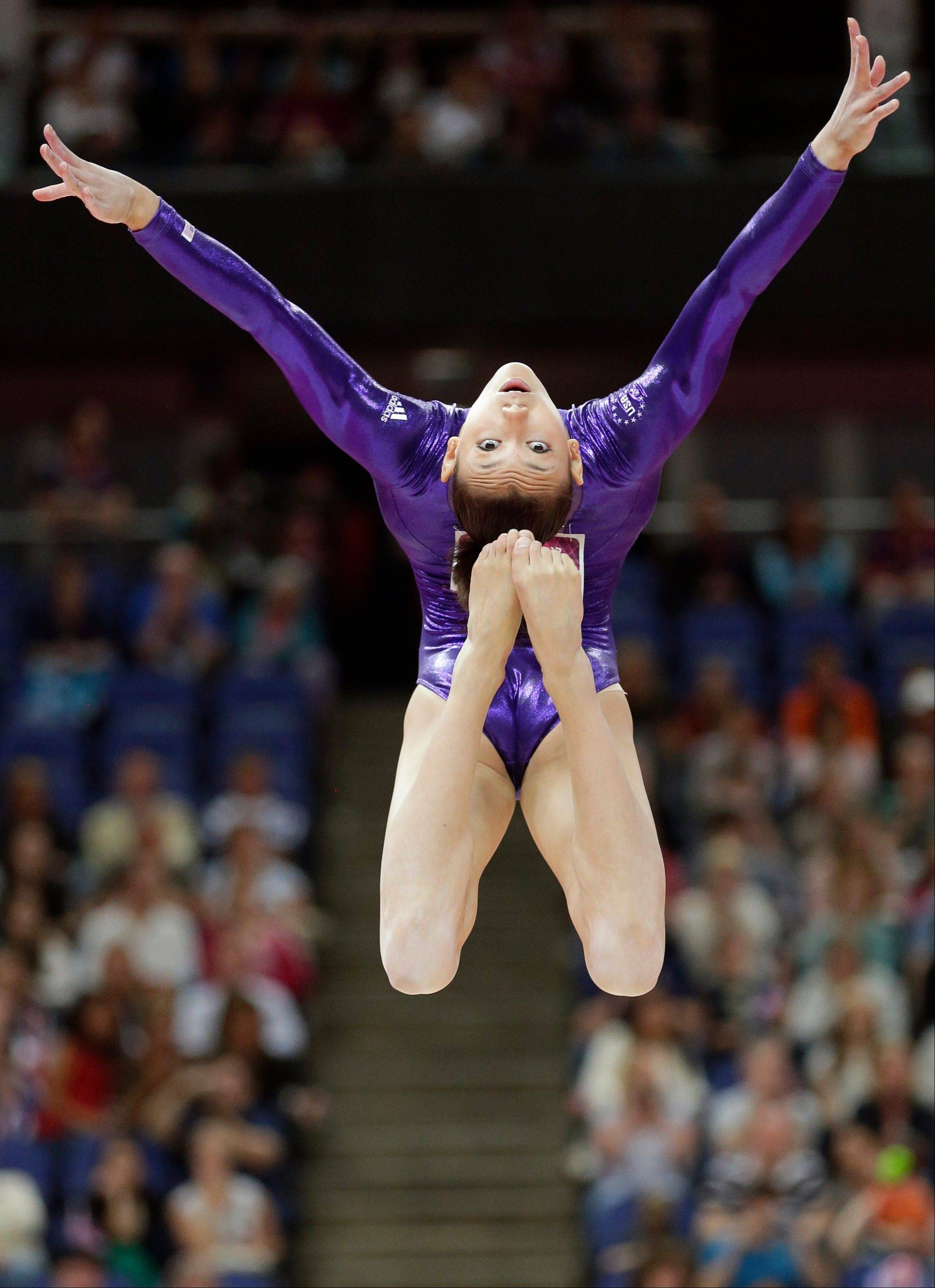 U.S. gymnast Kyla Ross competes in the 2013 Secret U.S. Classic at the Sears Centre Arena in Hoffman Estates on Saturday, July 27.