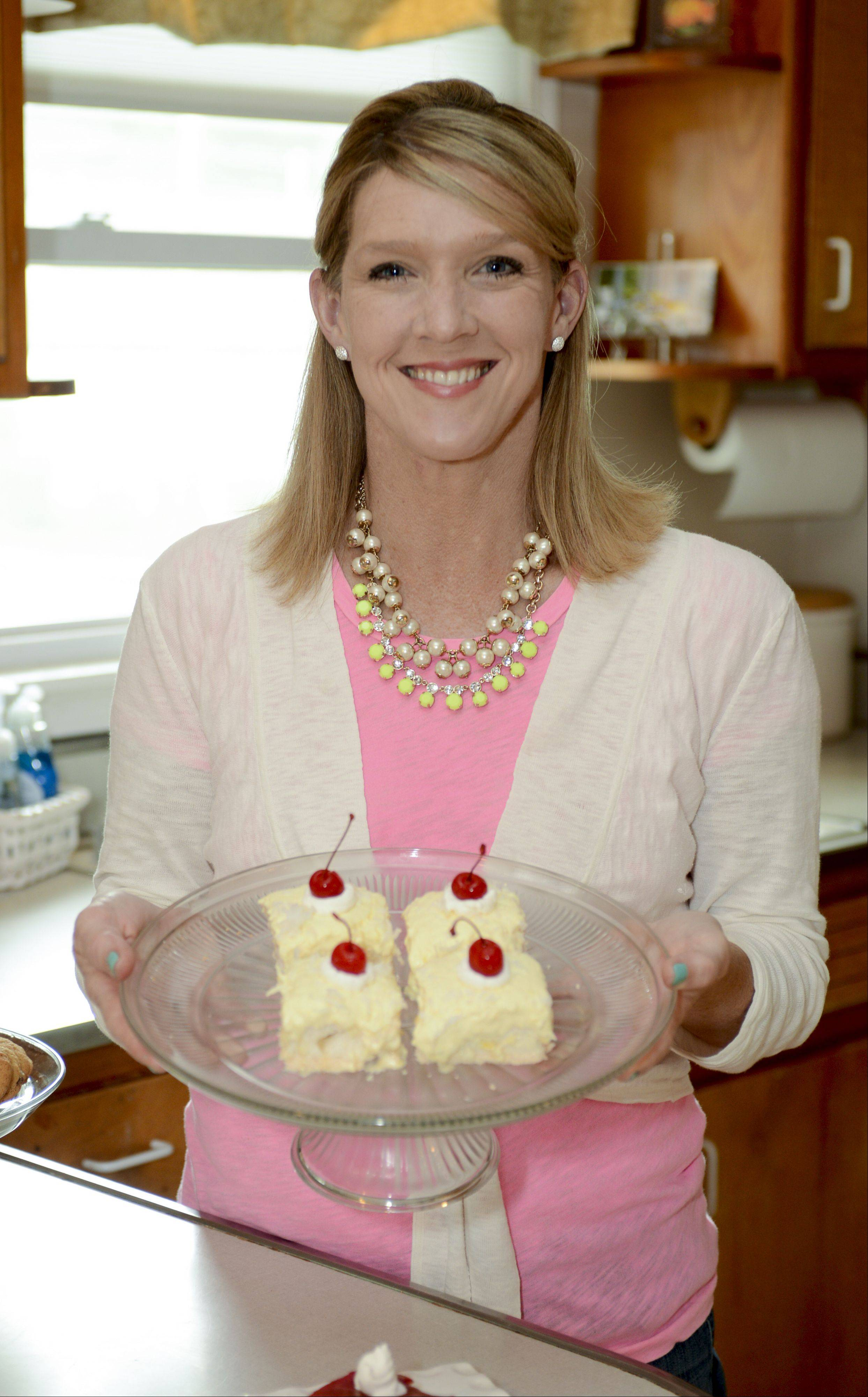 Karen Felker made her Angel Lemon Custard on a national TV talk show where it won a healthier dessert contest.