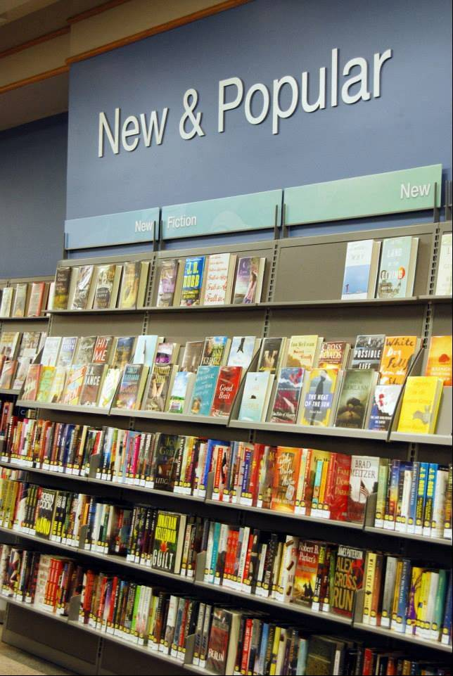 The New & Popular section of the Vernon Area Public Library in Lincolnshire is one of several areas renovated during a $1.3 million interior facelift.