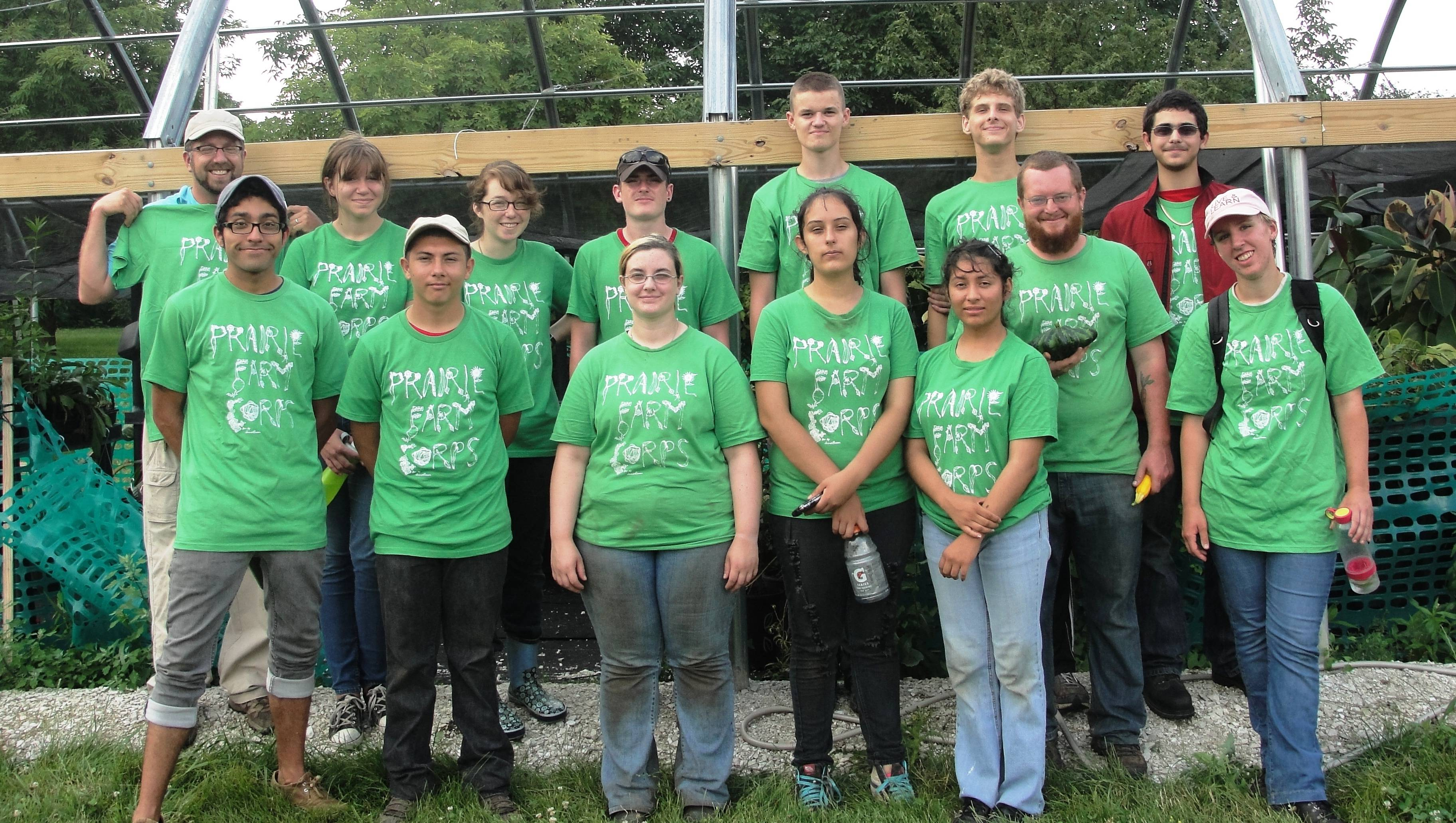 Prairie Farm Corps participants grow certified organic vegetables at the Prairie Crossing Learning Farm in Grayslake. The program also serves as a youth development program.