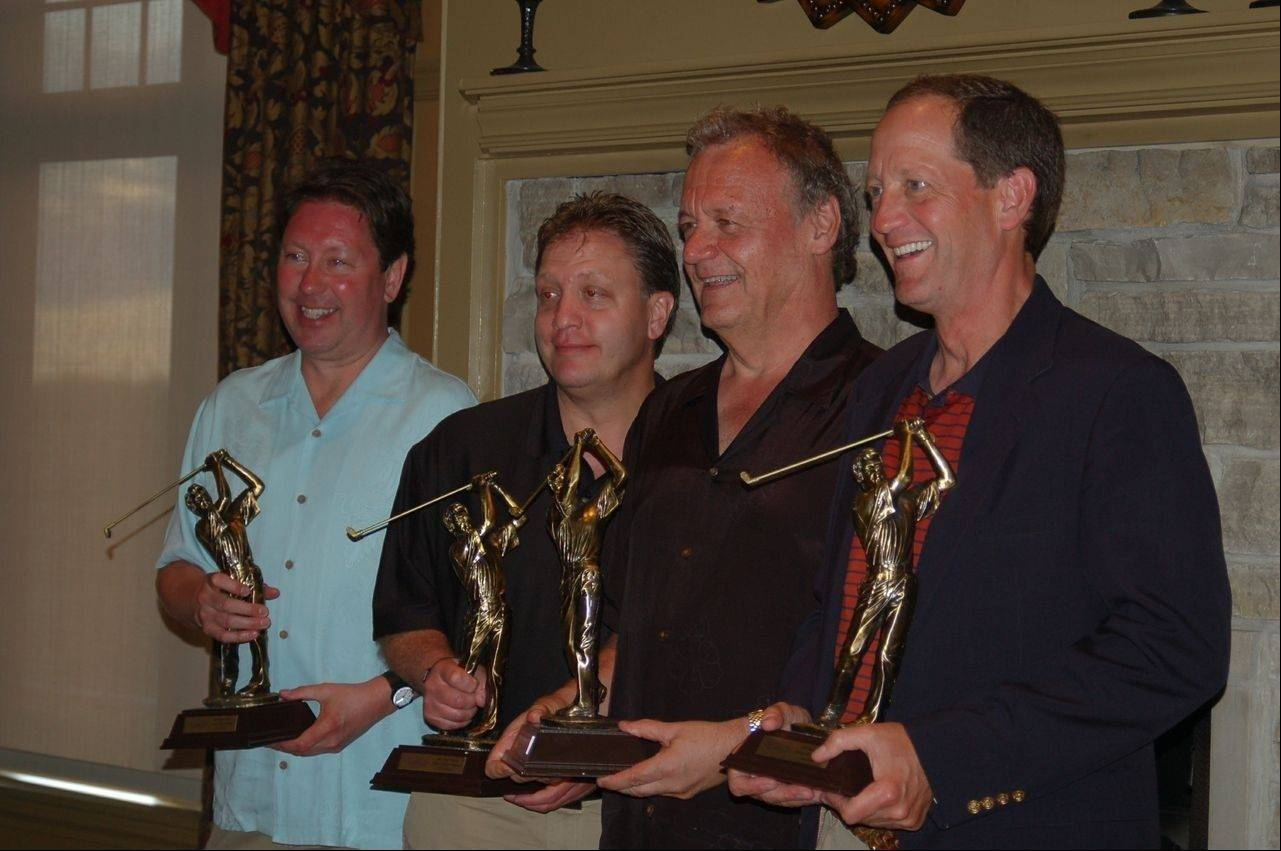 Barry Carlson, third from left, has won Saint Viator's Million Dollar Classic three times with his foursomes.