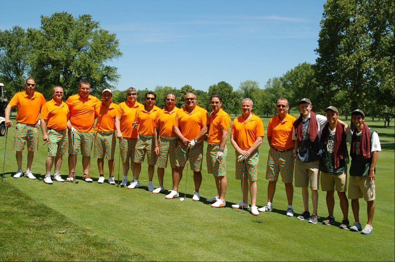 One team preferred to play as an elevensome at the Saint Viator Million Dollar Golf Classic.