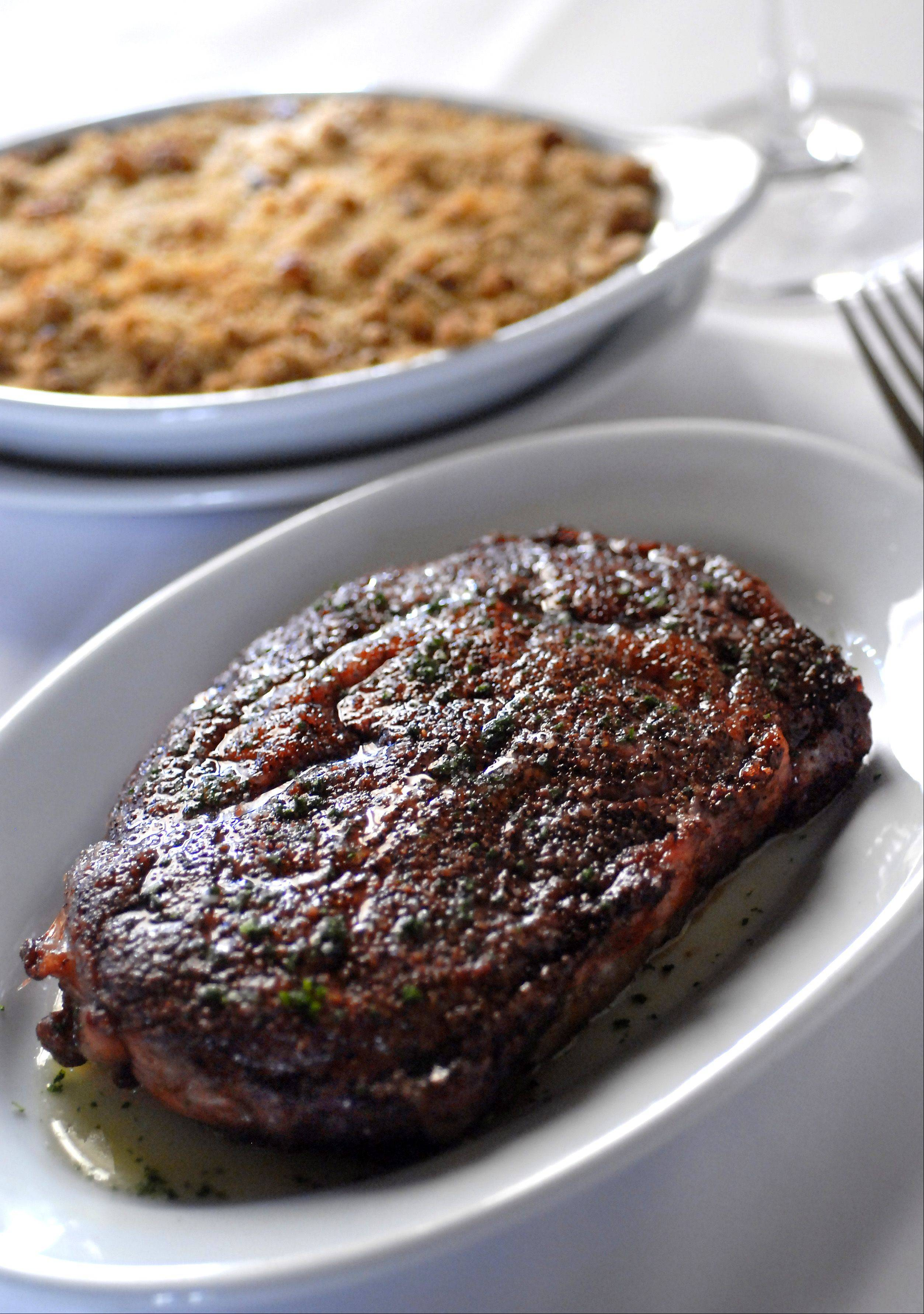 Aged rib-eyes helped earn Ruth�s Chris Steak House a mention on Yahoo�s list of top five steakhouses in the U.S.