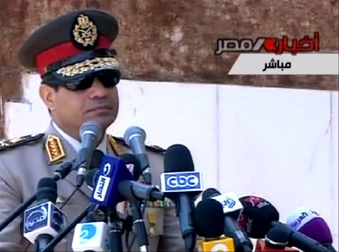 "Egyptian Defense Minister Gen. Abdel-Fattah el-Sissi has called on Egyptians to hold mass demonstrations to voice their support for the military to put an end to ""violence"" and ""terrorism."""