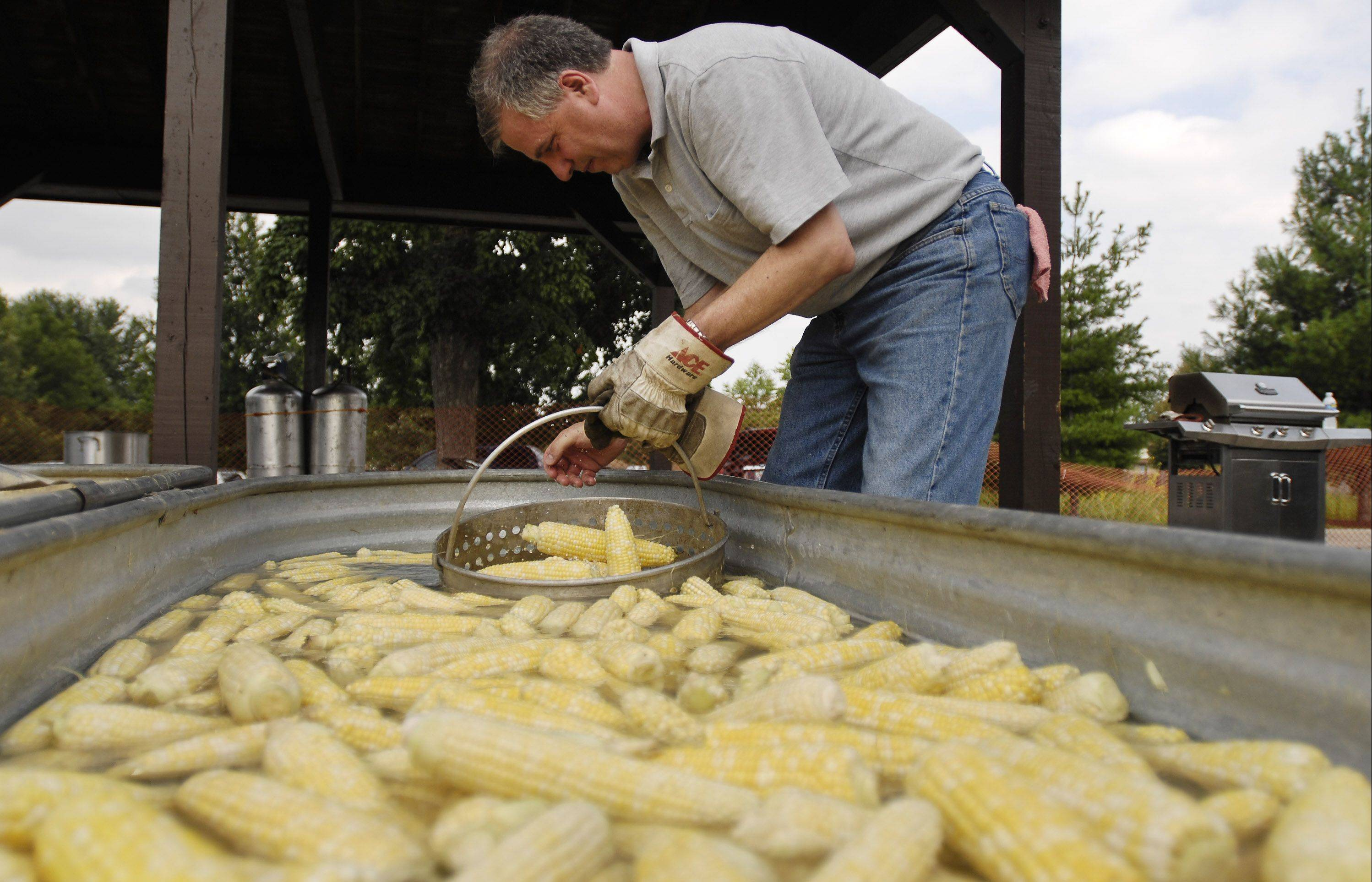 Organizers estimate they'll cook up 10,000 ears of sweet corn during the Sugar Grove Corn Boil festival.