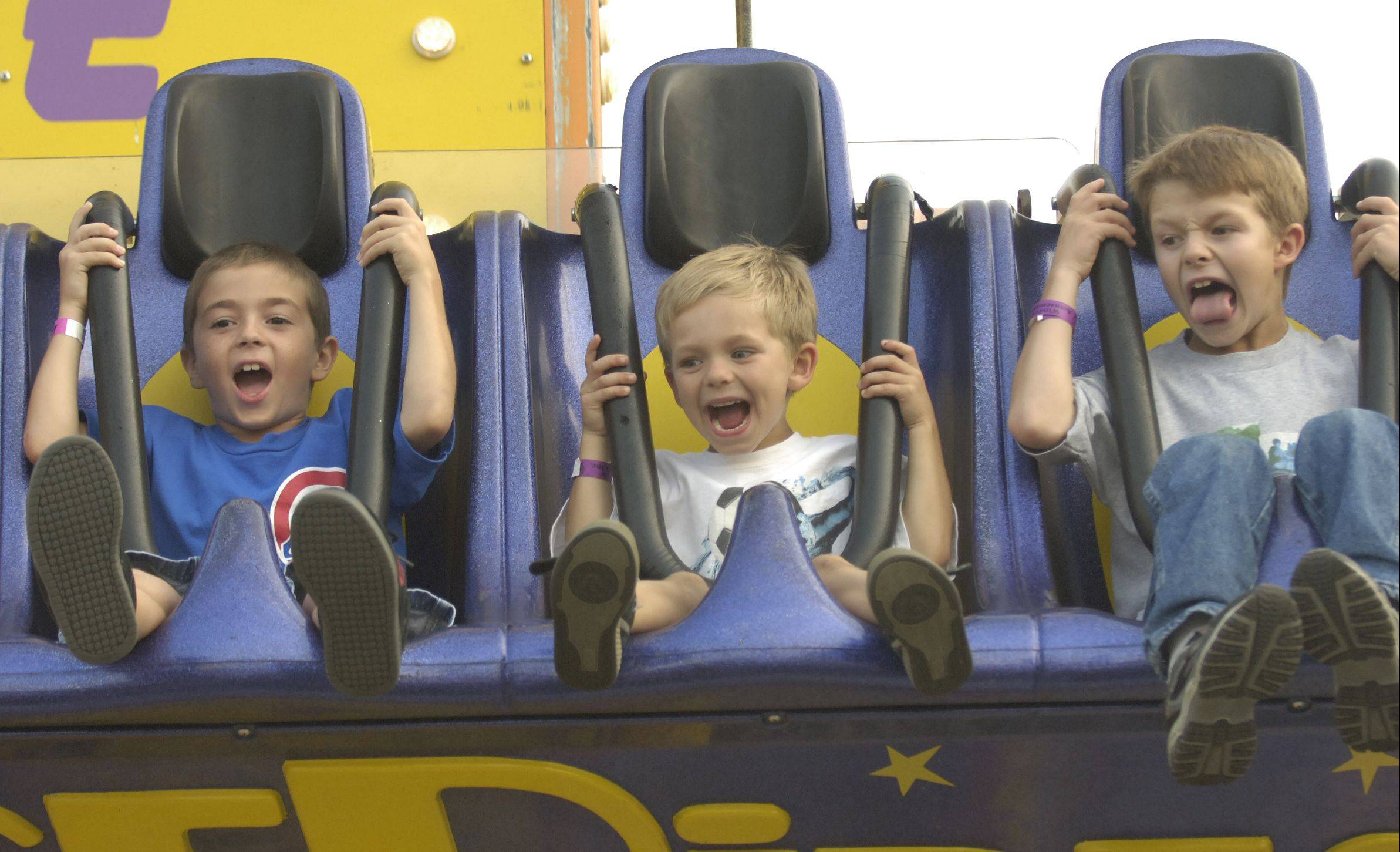 Carnival rides will offer excitement at the Sugar Grove Corn Boil this weekend in Volunteer Park.